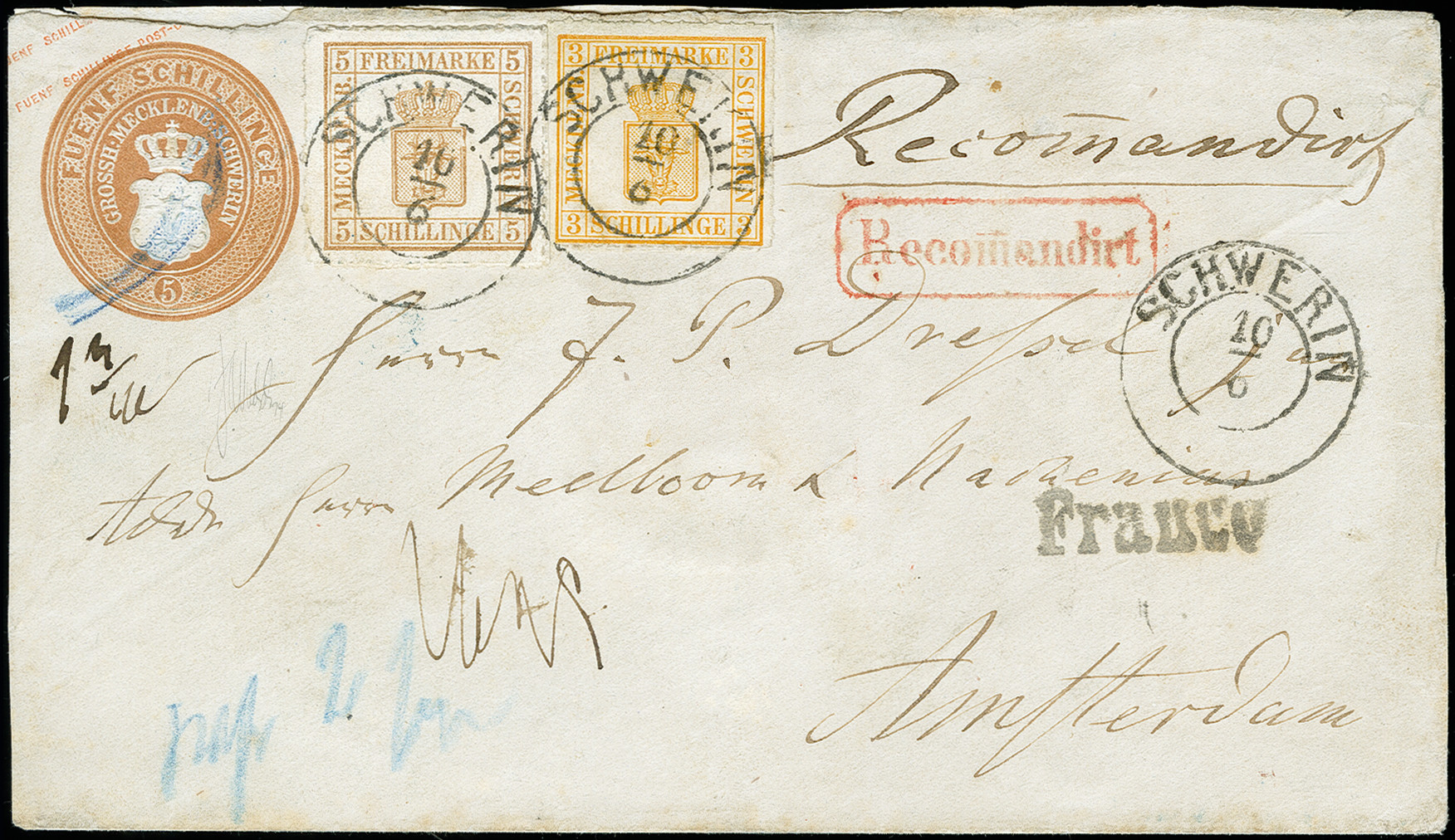 Lot 2507 - german states mecklenburg-schwerin -  Heinrich Koehler Auktionen Auction #371- Day 5