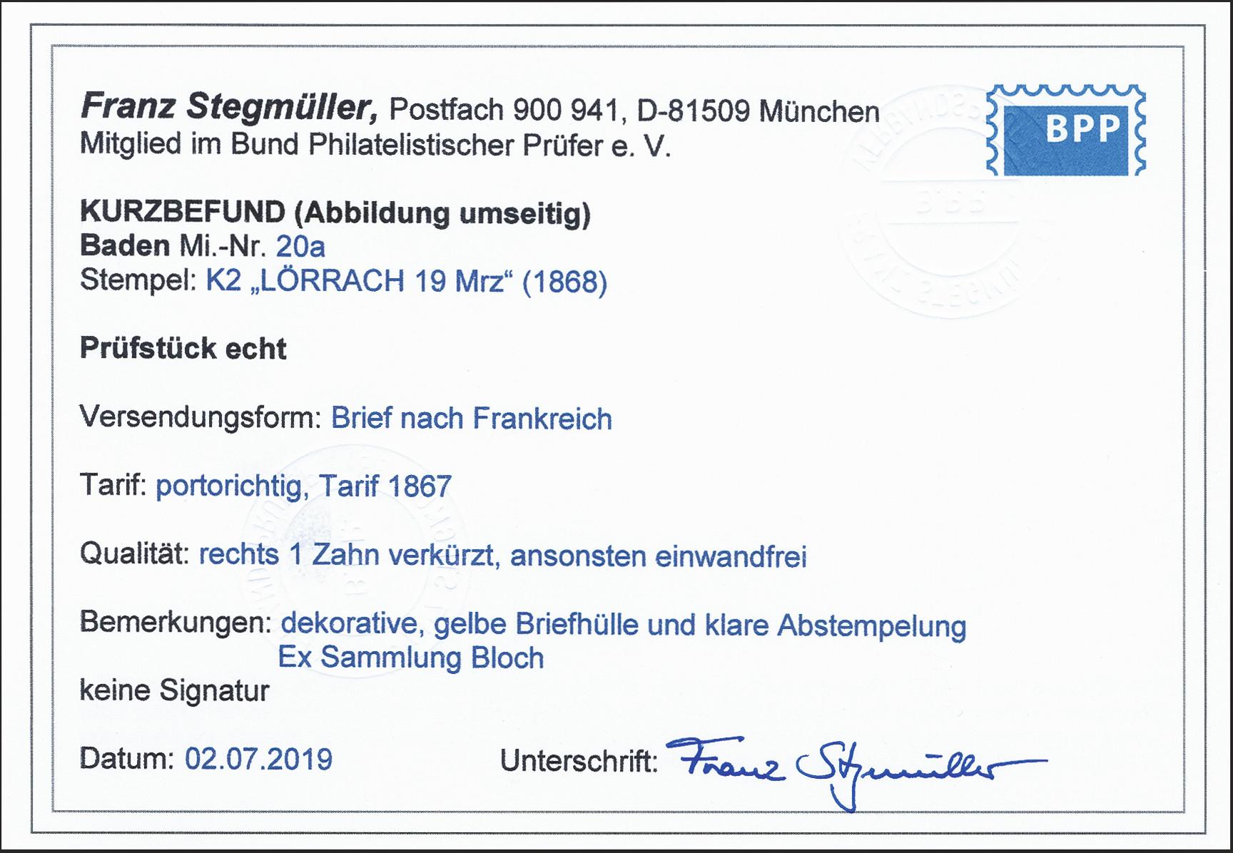 Lot 10 - Altdeutsche Staaten Baden -  Heinrich Koehler Auktionen 372nd Auction - The ERIVAN Collection