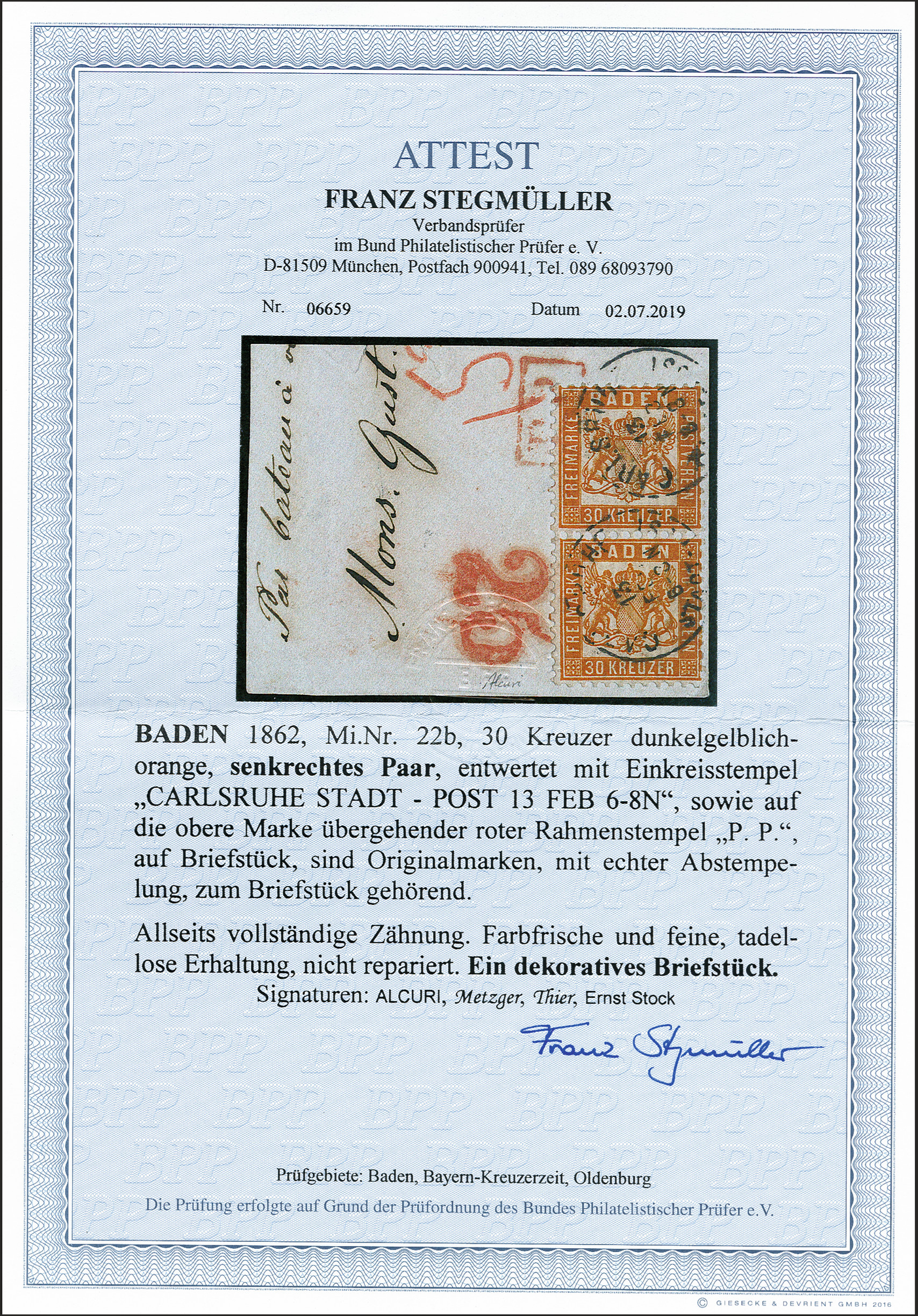 Lot 12 - Altdeutsche Staaten Baden -  Heinrich Koehler Auktionen 372nd Auction - The ERIVAN Collection