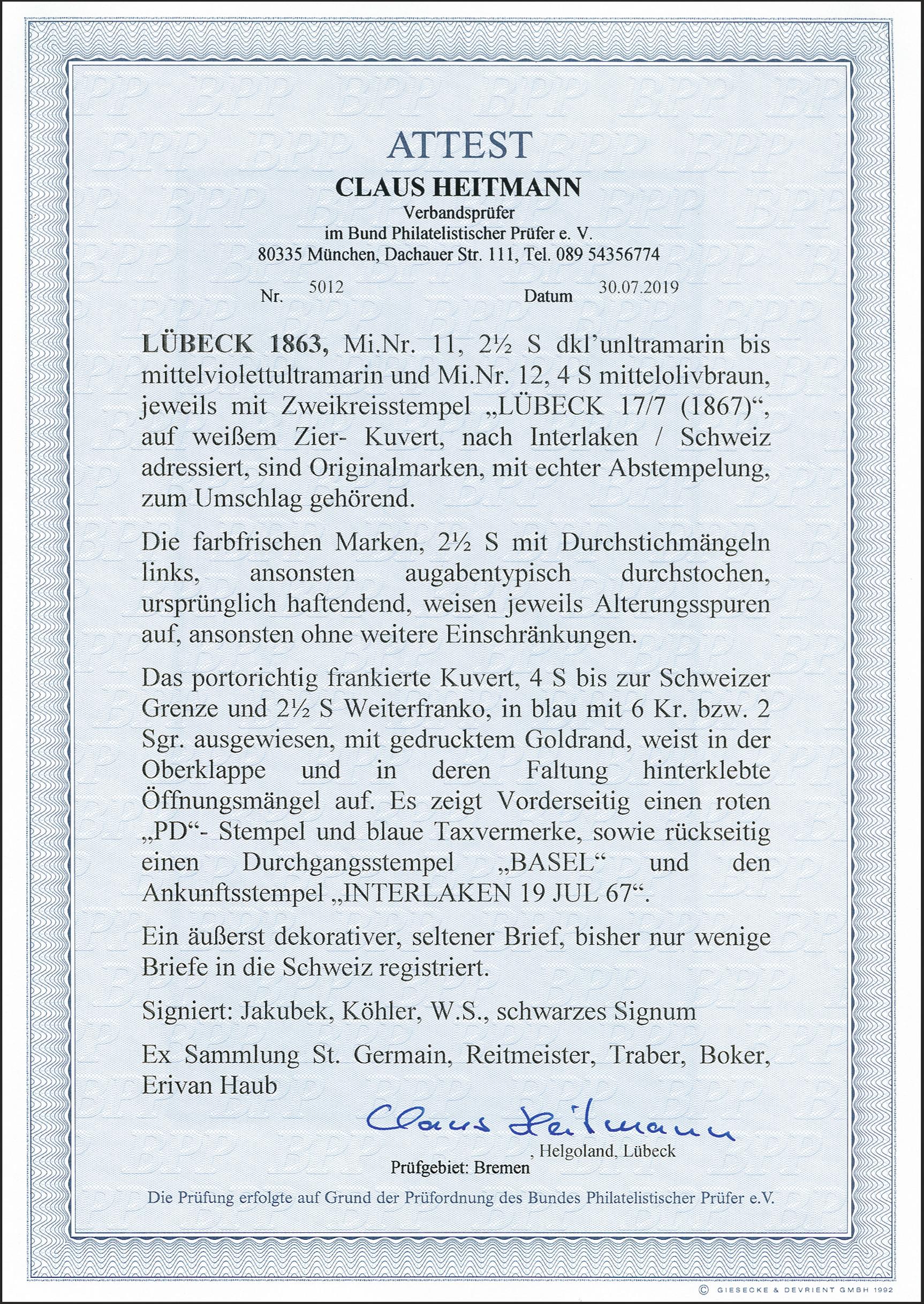 Lot 117 - Altdeutsche Staaten lübeck -  Heinrich Koehler Auktionen 372nd Auction - The ERIVAN Collection