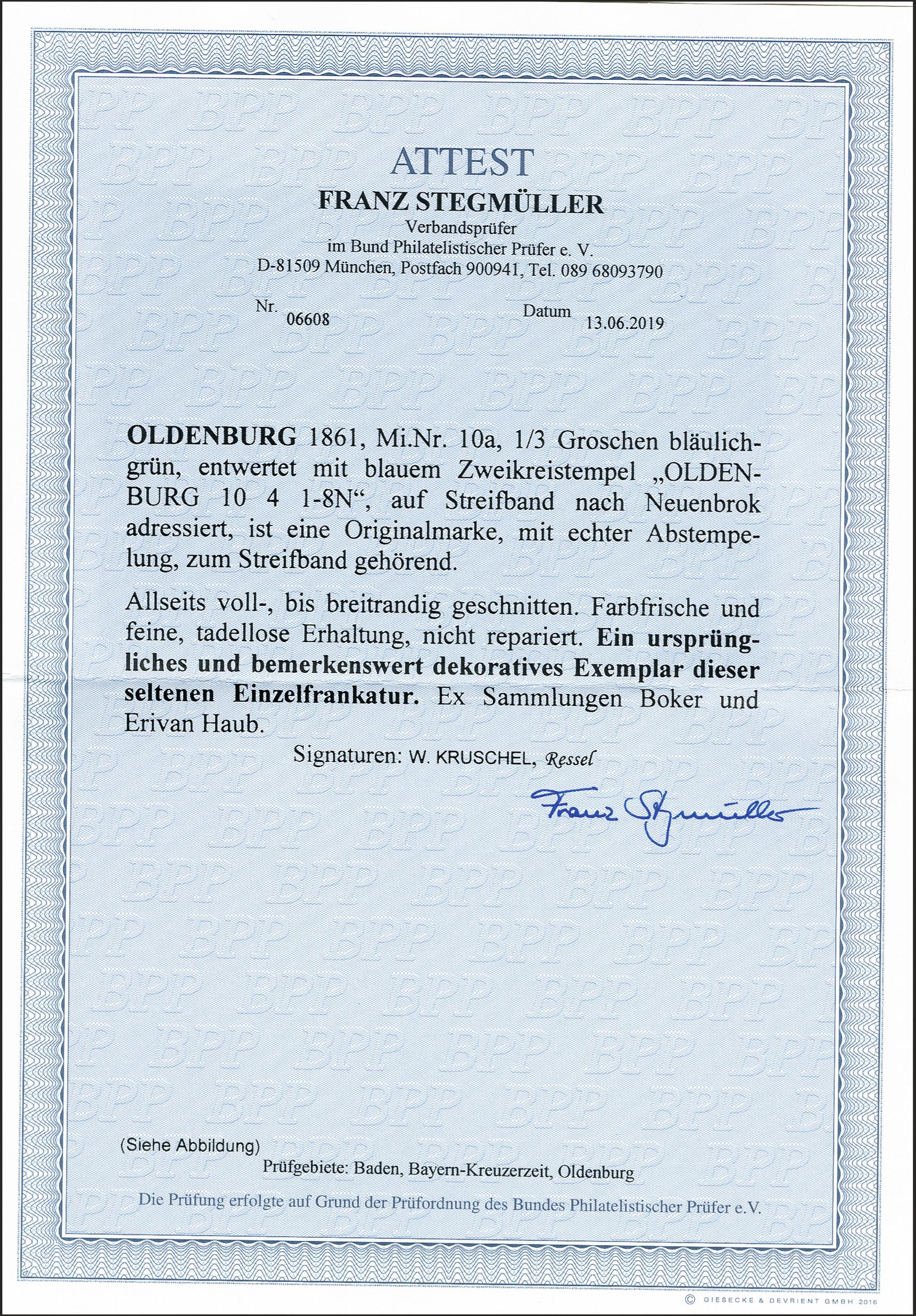 Lot 143 - Altdeutsche Staaten oldenburg -  Heinrich Koehler Auktionen 372nd Auction - The ERIVAN Collection