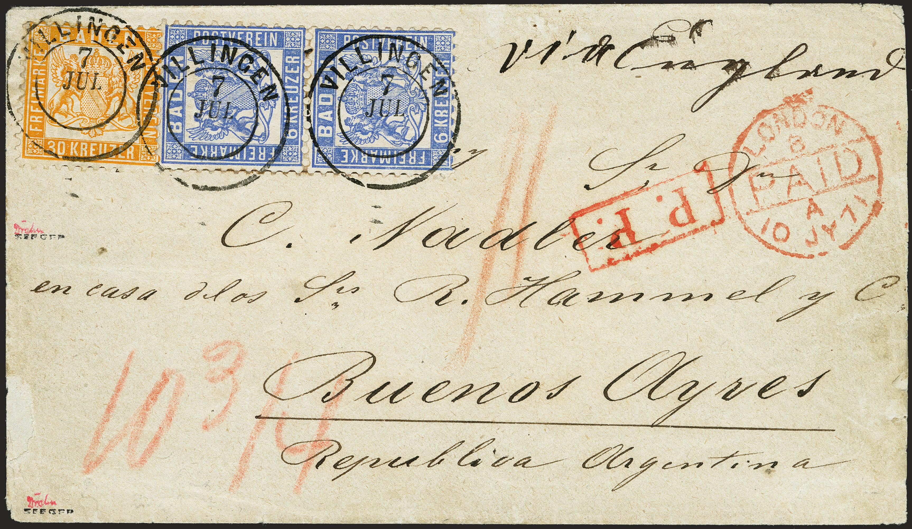 Lot 13 - Altdeutsche Staaten Baden -  Heinrich Koehler Auktionen 372nd Auction - The ERIVAN Collection