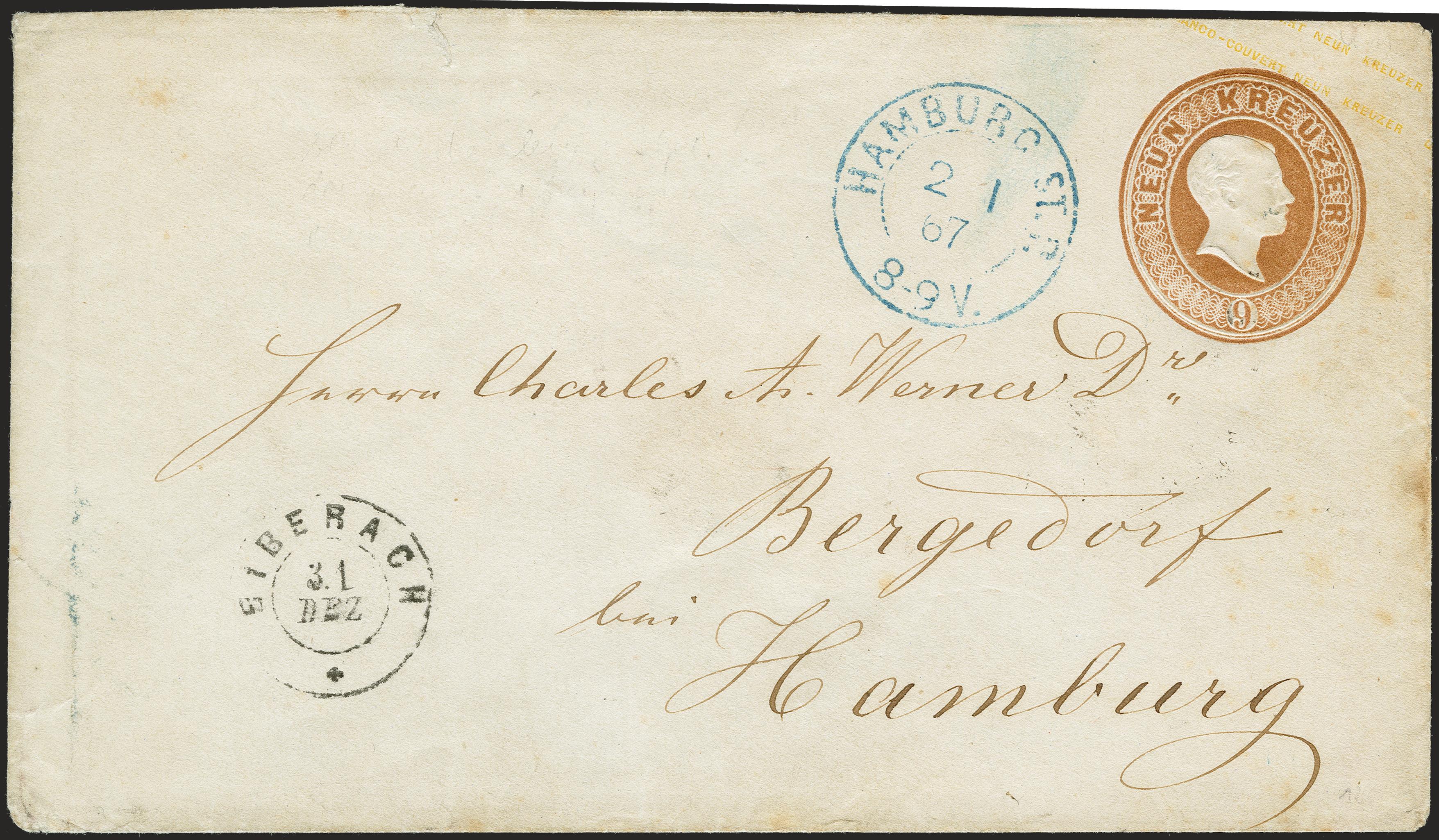 Lot 15 - Baden baden postal stationary -  Heinrich Koehler Auktionen 372nd Auction - The ERIVAN Collection