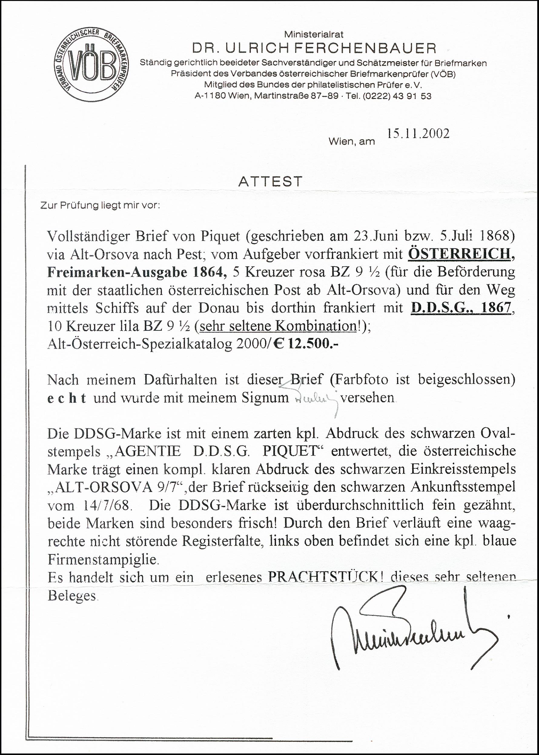 Lot 6168 - Austria DDSG, Ship Mail -  Heinrich Koehler Auktionen 373rd Heinrich Köhler auction - Day 1