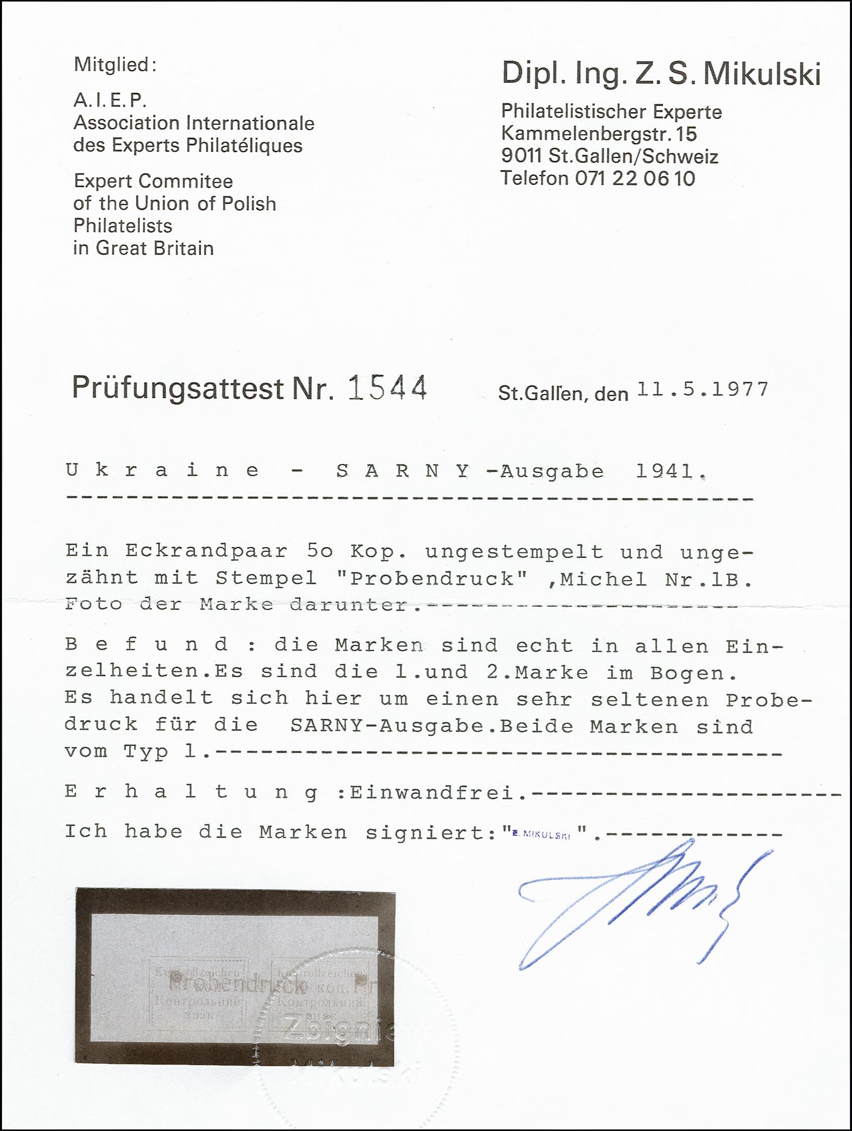 Lot 1956 - ukraine sarny -  Heinrich Koehler Auktionen 373rd Heinrich Köhler auction - Day 1