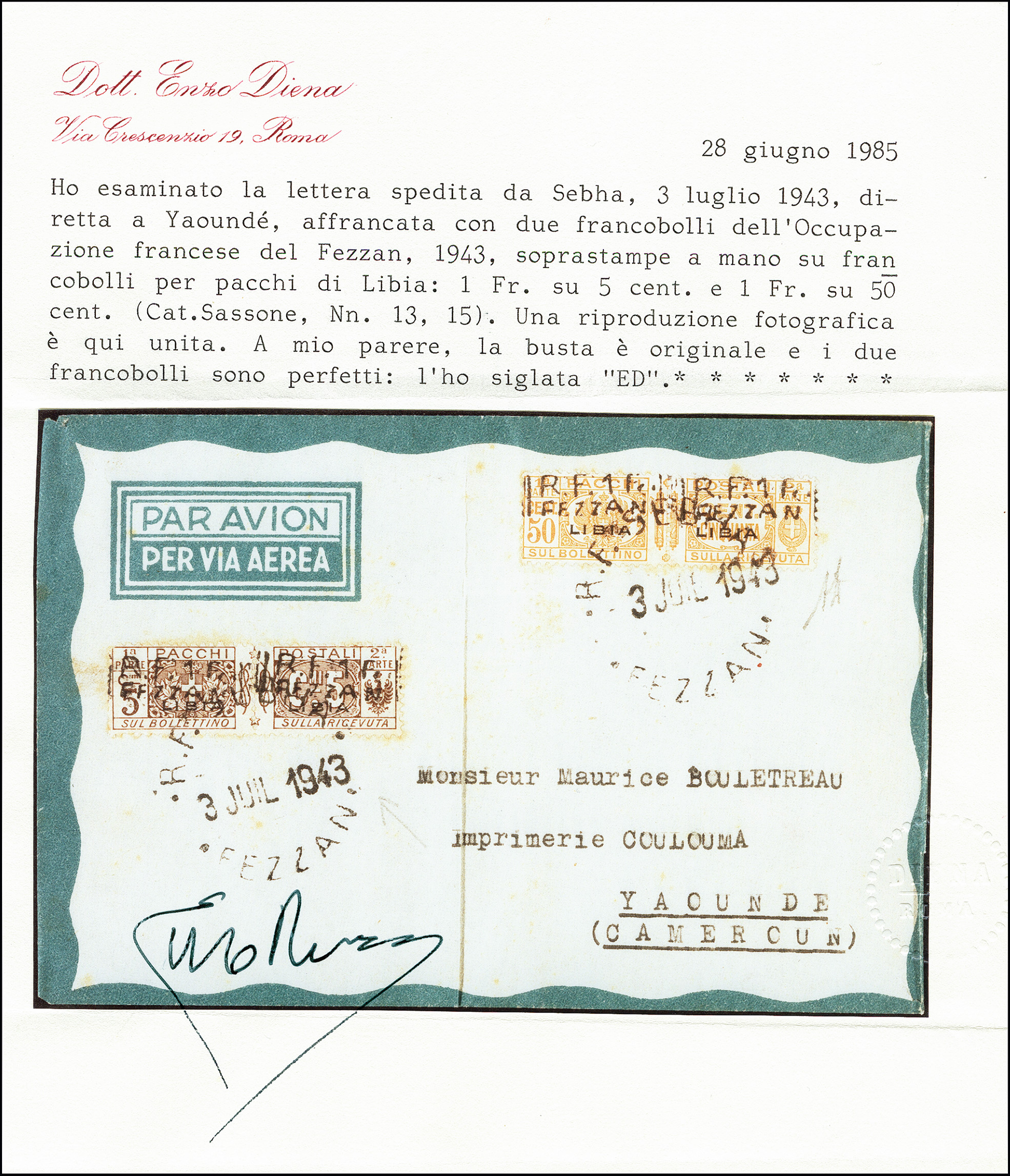 Lot 493 - french colonies fezzan -  Heinrich Koehler Auktionen 373rd Heinrich Köhler auction - Day 1