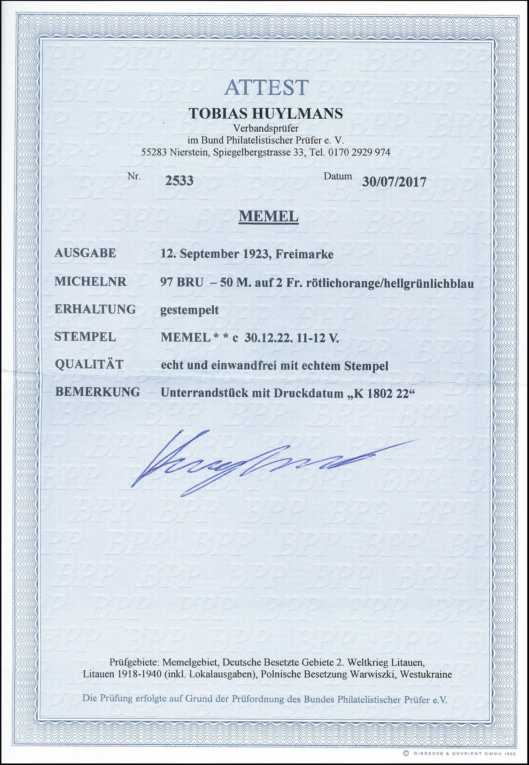 Printtoo GESCANNT Selbstf/ärber Stempel B/üro station/är Bedrucktes Stamp-Blau