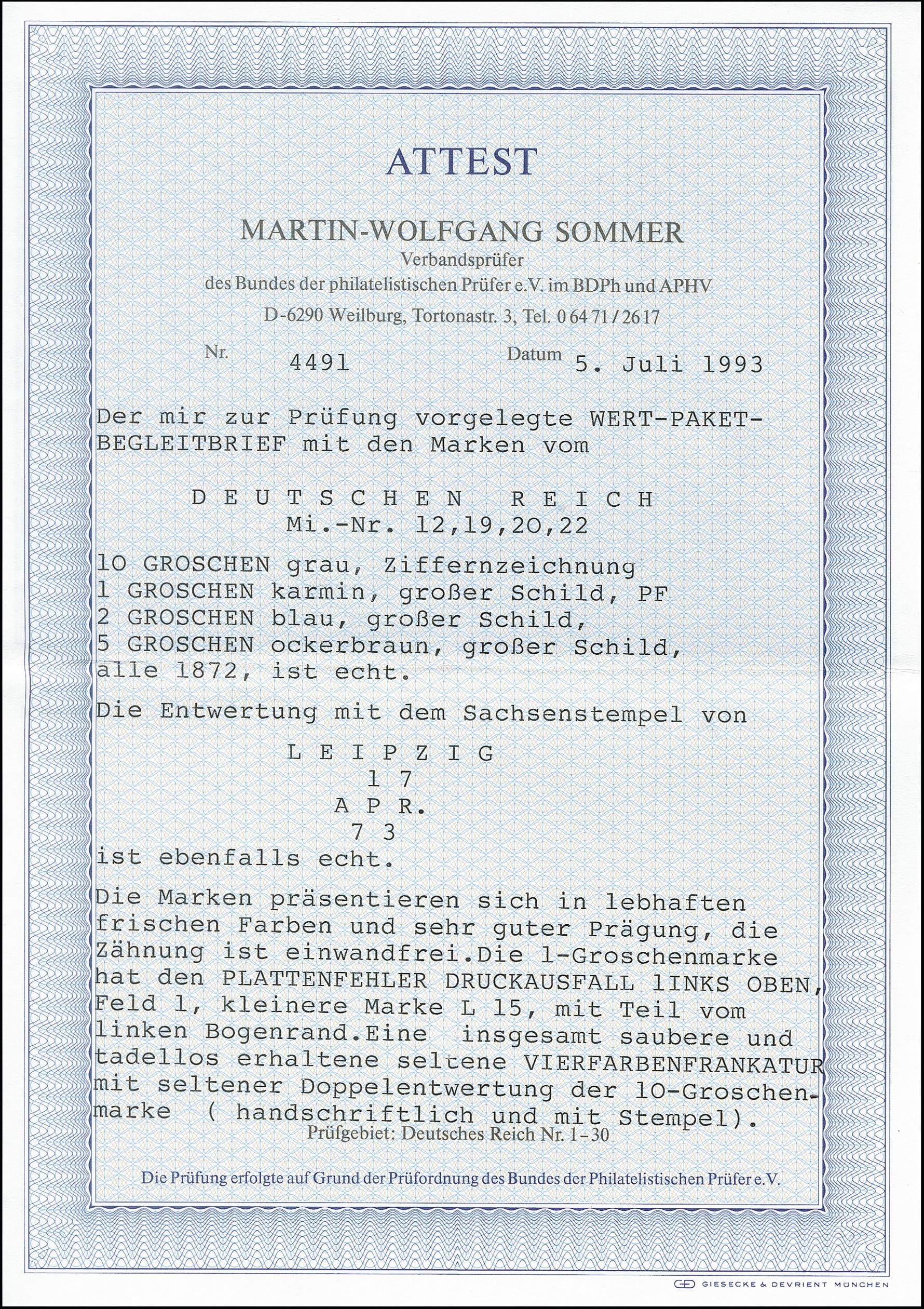 Lot 2627 - Main catalogue German Empire -  Heinrich Koehler Auktionen 373rd Heinrich Köhler auction - Day 5