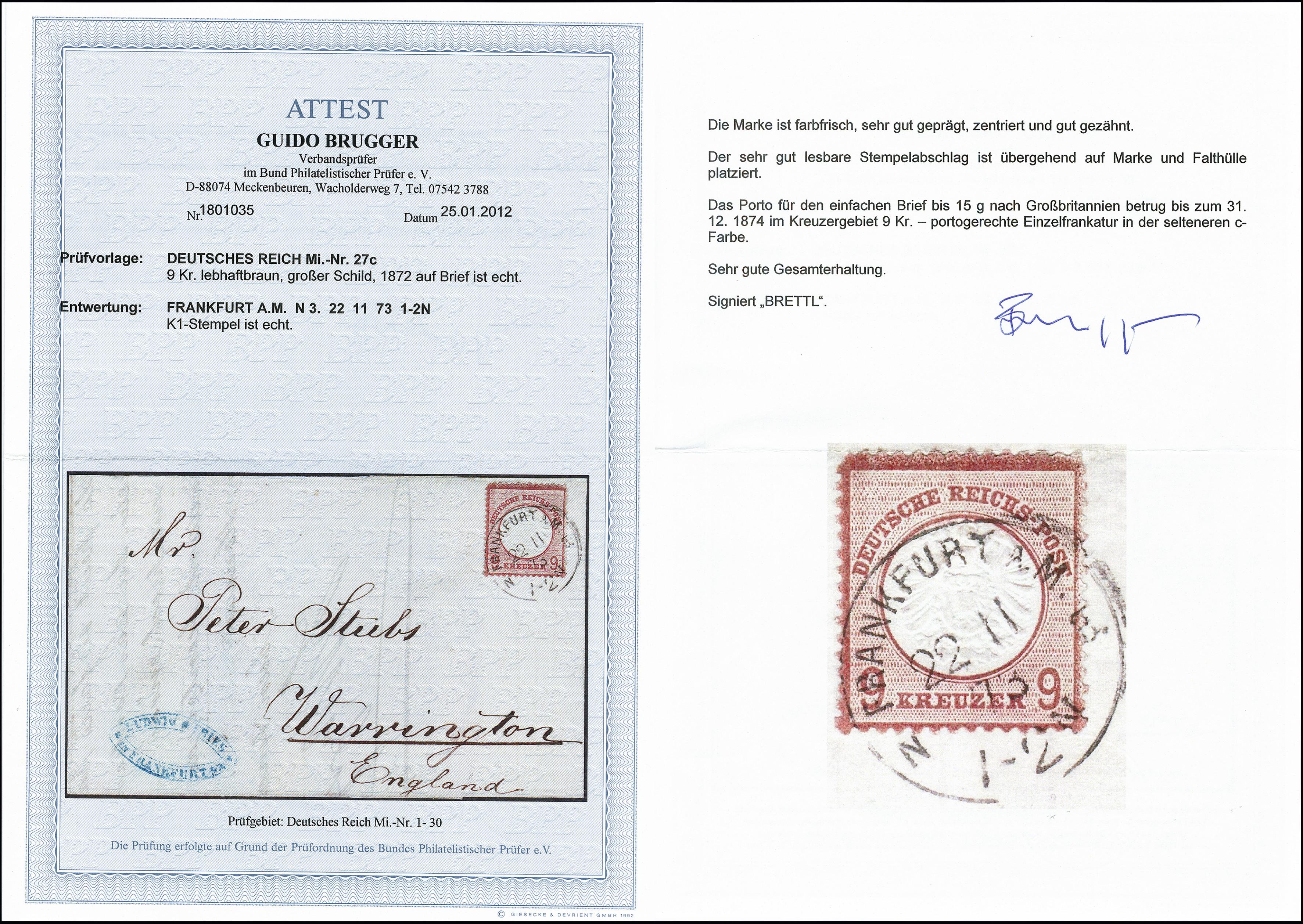 Lot 2641 - Main catalogue German Empire -  Heinrich Koehler Auktionen 373rd Heinrich Köhler auction - Day 5