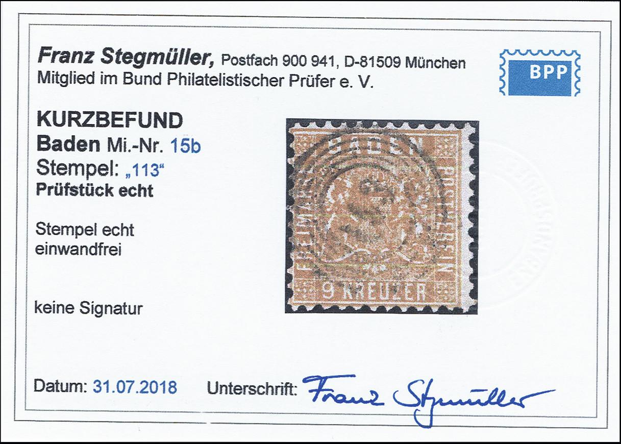 Lot 2848 - german states Baden -  Heinrich Koehler Auktionen 373rd Heinrich Köhler auction - Day 5