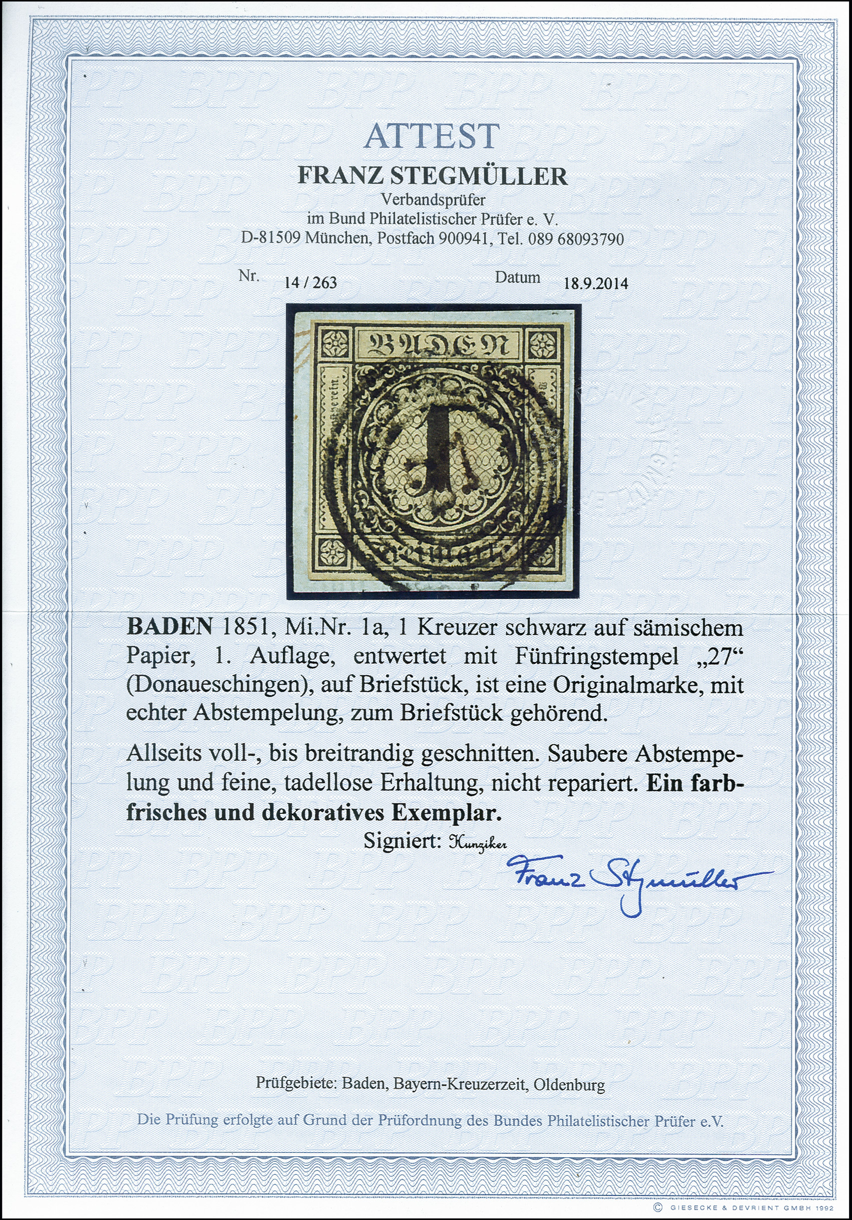 Lot 2843 - german states Baden -  Heinrich Koehler Auktionen 373rd Heinrich Köhler auction - Day 5