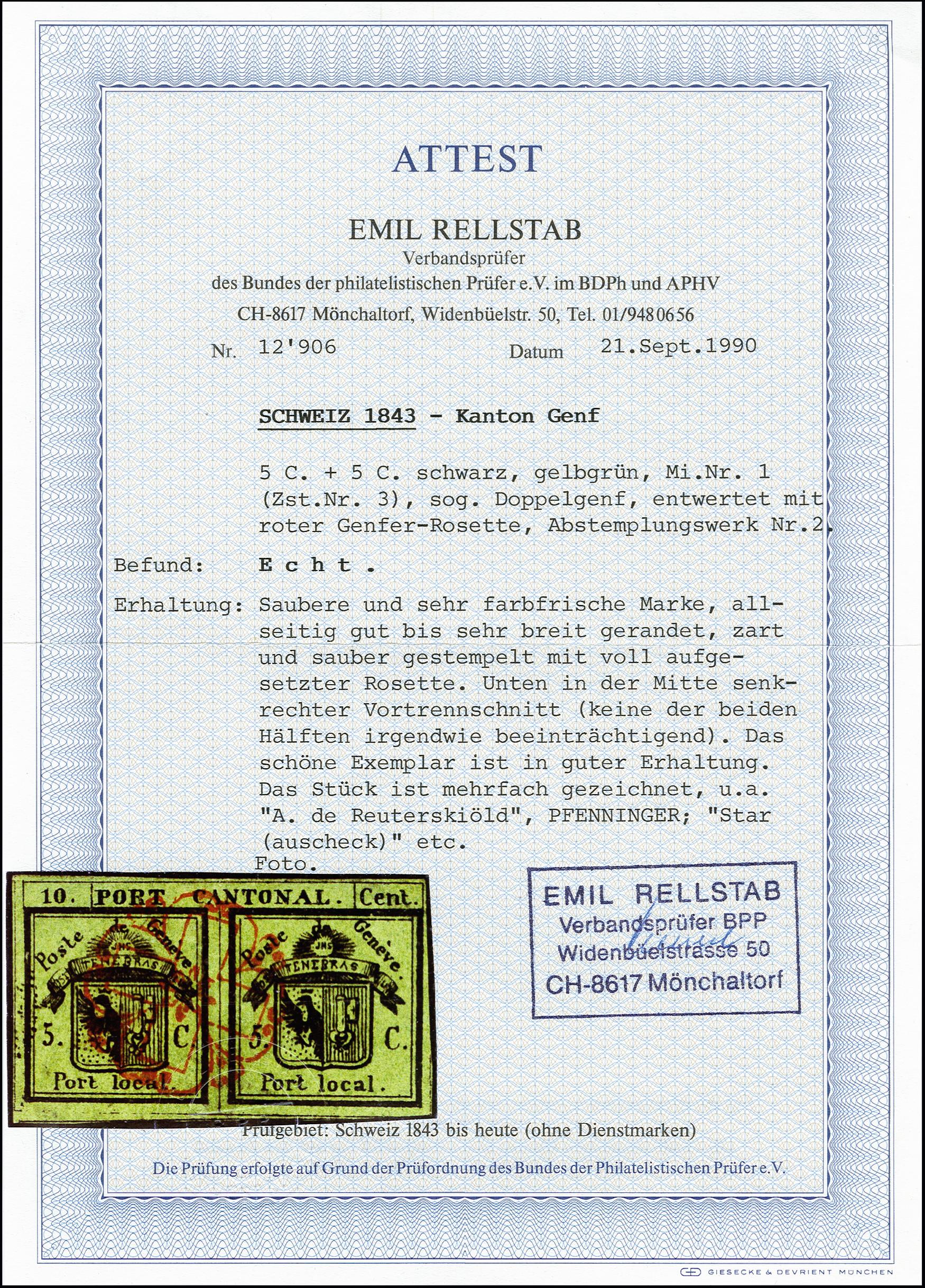 Lot 30 - Switzerland geneva -  Heinrich Koehler Auktionen 373rd Heinrich Köhler auction - Day 1