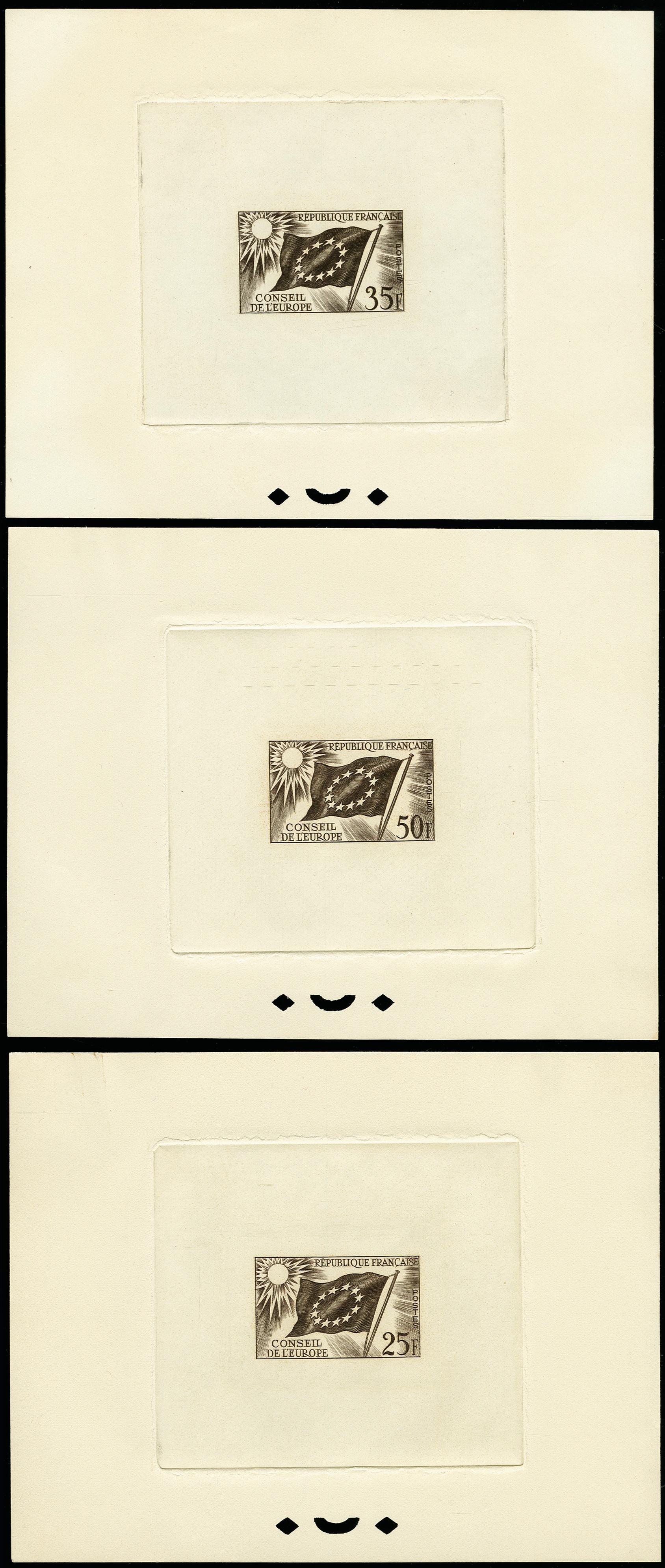 Lot 479 - France France - officials for the European Council -  Heinrich Koehler Auktionen 373rd Heinrich Köhler auction - Day 1