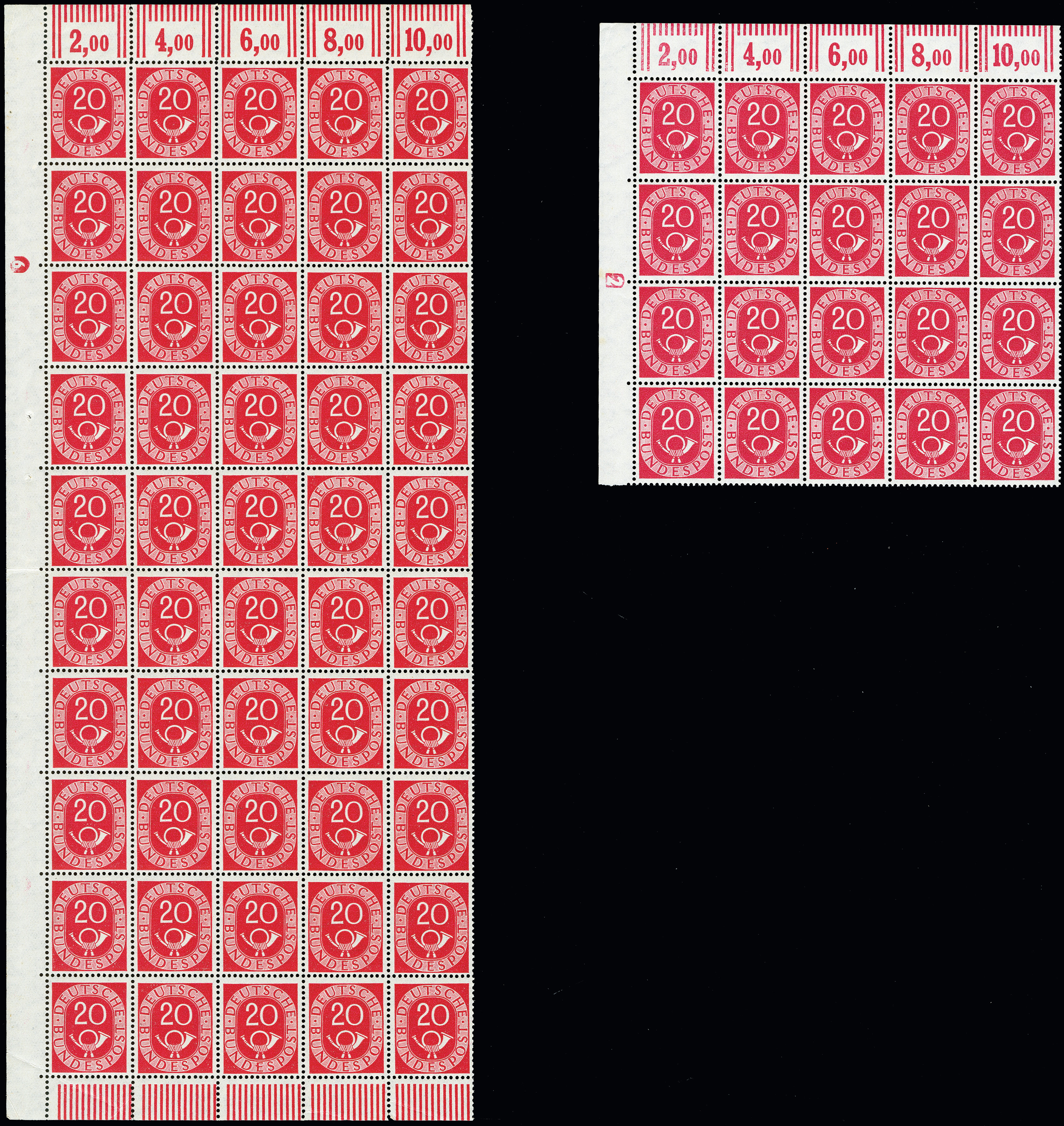 Lot 2498 - germany after 1945 federal republic of germany -  Heinrich Koehler Auktionen 373rd Heinrich Köhler auction - Day 4