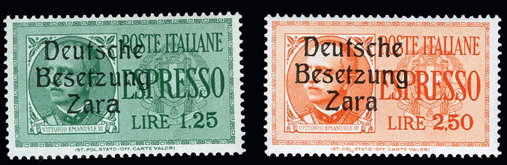 Lot 1958 - german occupation issues 1939/45 zara -  Heinrich Koehler Auktionen 373rd Heinrich Köhler auction - Day 1