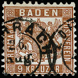 Lot 2852 - german states Baden -  Heinrich Koehler Auktionen 373rd Heinrich Köhler auction - Day 5