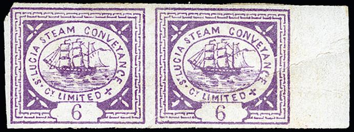 Lot 6071 - British Commonwealth St. Lucia, Ship Mail -  Heinrich Koehler Auktionen 373rd Heinrich Köhler auction - Day 1