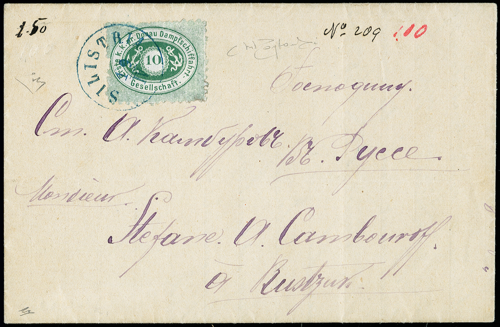 Lot 6179 - Austria DDSG, Ship Mail -  Heinrich Koehler Auktionen 373rd Heinrich Köhler auction - Day 1