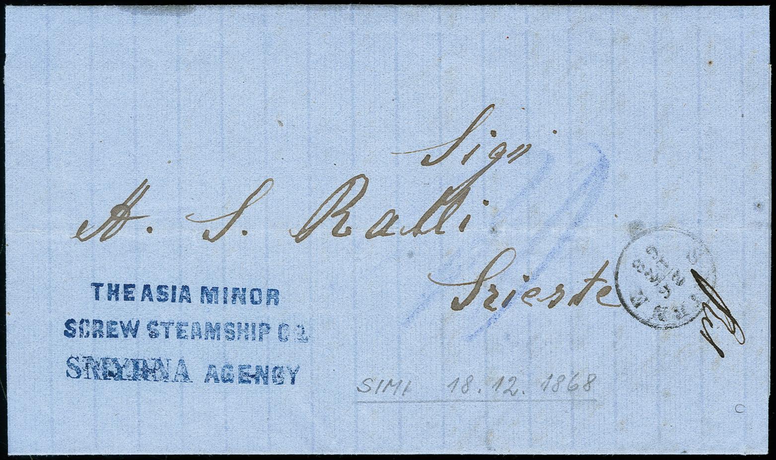 Lot 6034 - thrace Turkey - Ship mail issues, Ship Mail -  Heinrich Koehler Auktionen 373rd Heinrich Köhler auction - Day 1