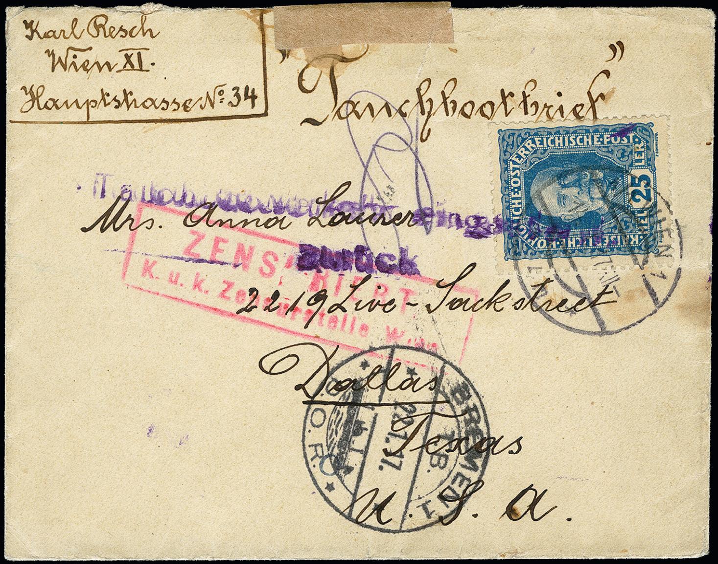 Lot 2842 - Main catalogue German  shipmail, Austria -  Heinrich Koehler Auktionen 373rd Heinrich Köhler auction - Day 5