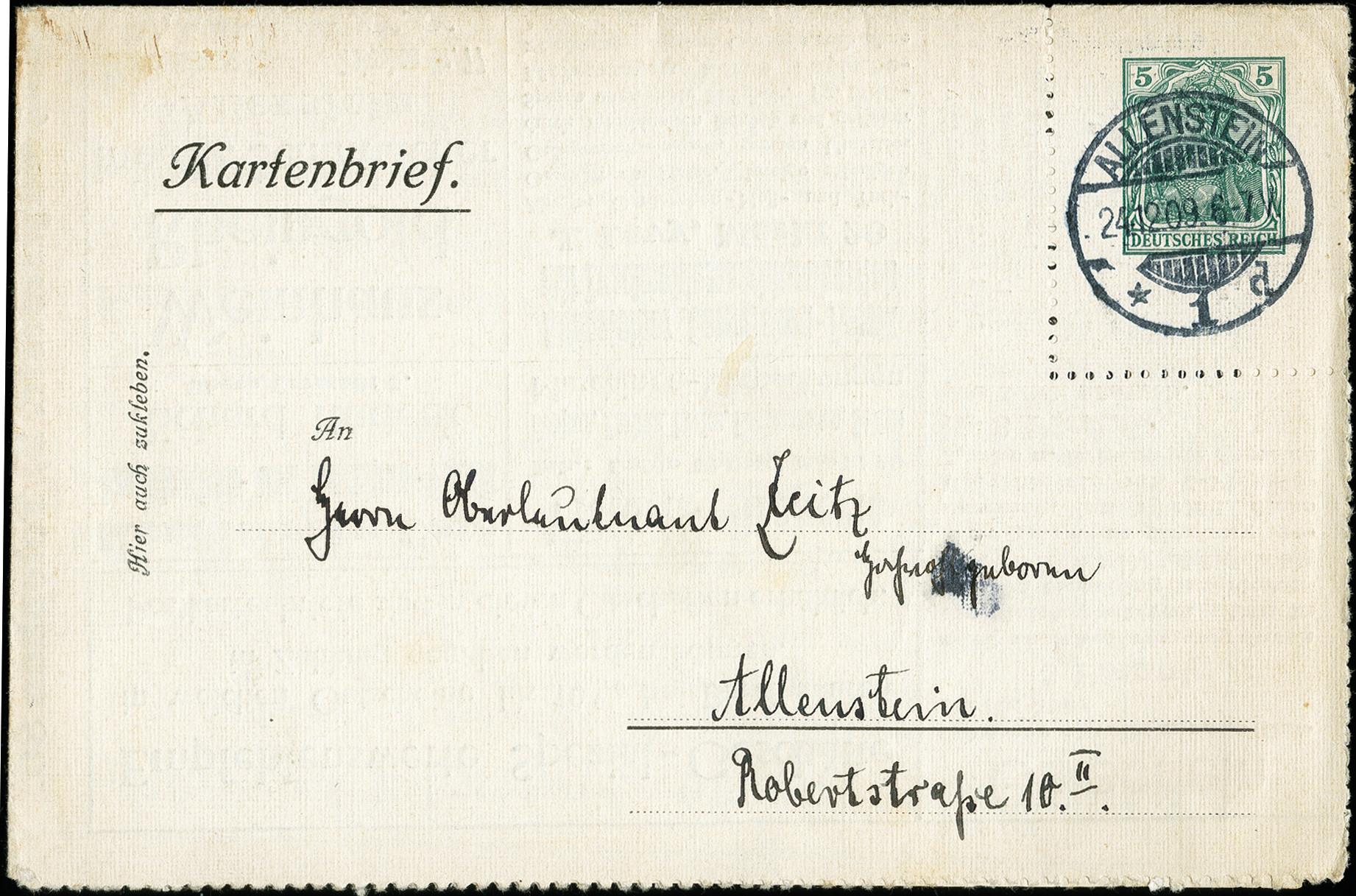 Lot 2793 - German Empire Deutsches Reich - Privat-Ganzsachen -  Heinrich Koehler Auktionen 373rd Heinrich Köhler auction - Day 5