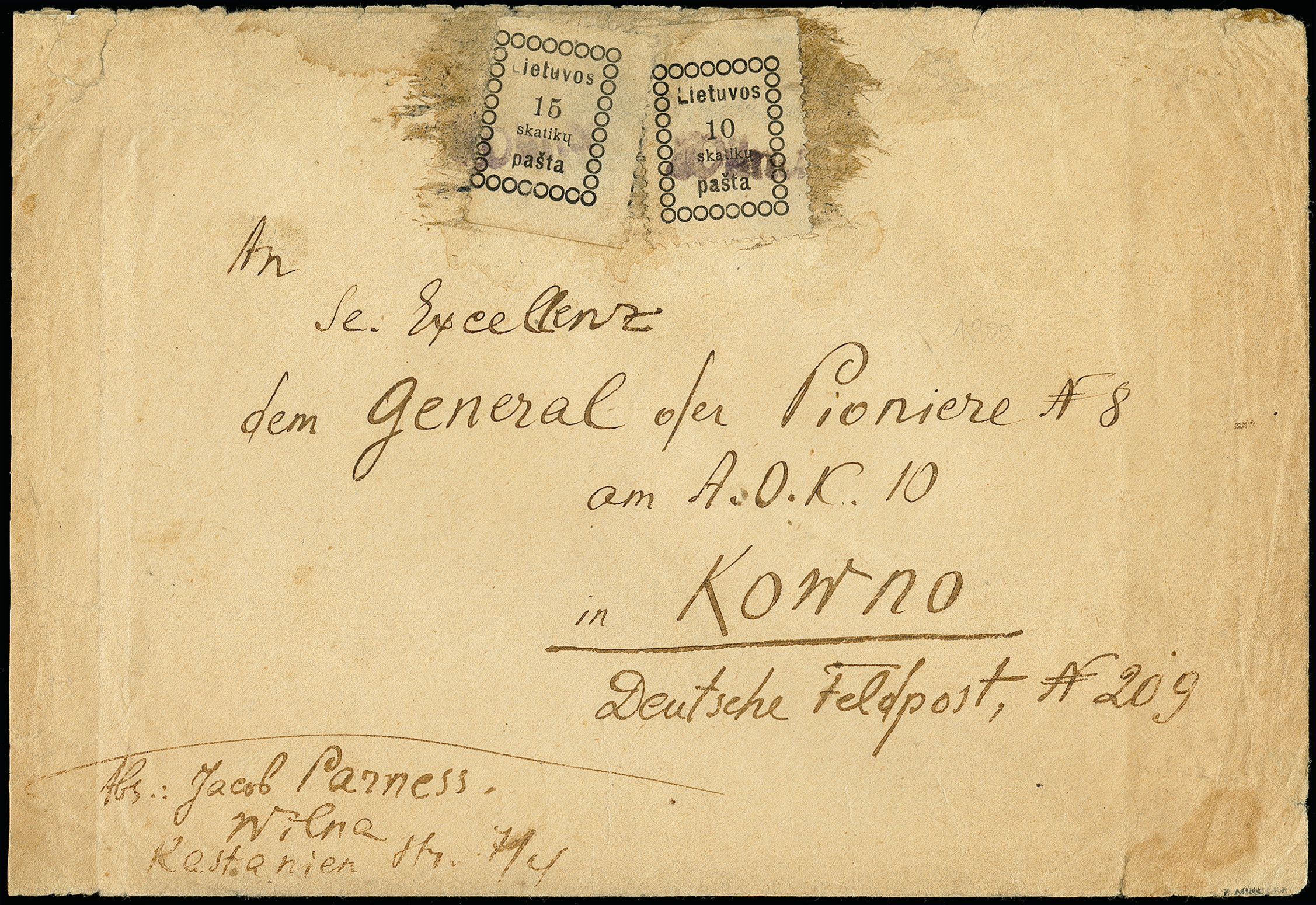 Lot 134 - europe Lithuania, Central Lithuania -  Heinrich Koehler Auktionen 373rd Heinrich Köhler auction - Day 1