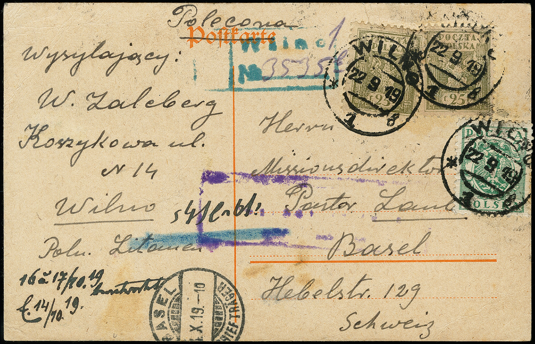 Lot 196 - europe Central Lithuania, Poland -  Heinrich Koehler Auktionen 373rd Heinrich Köhler auction - Day 1