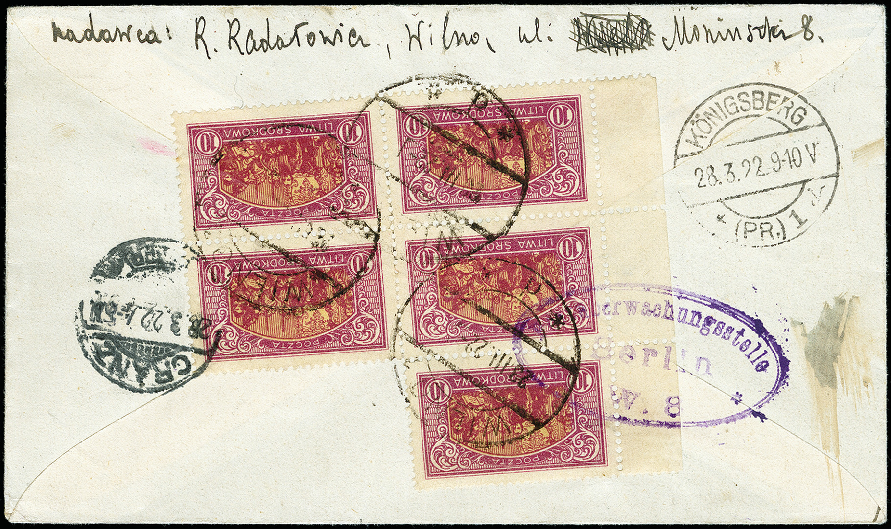 Lot 171 - europe central lithuania -  Heinrich Koehler Auktionen 373rd Heinrich Köhler auction - Day 1