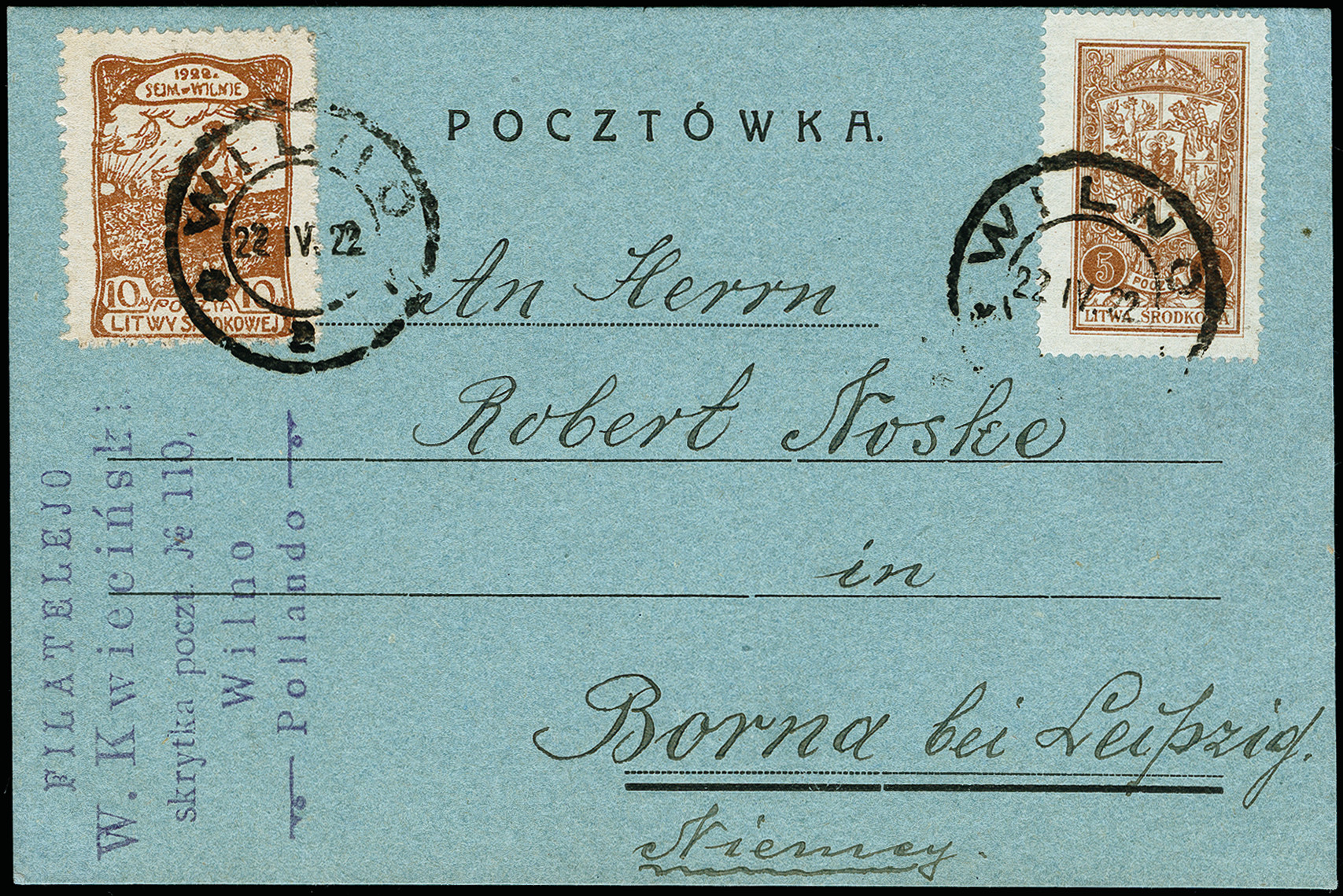 Lot 190 - europe central lithuania -  Heinrich Koehler Auktionen 373rd Heinrich Köhler auction - Day 1