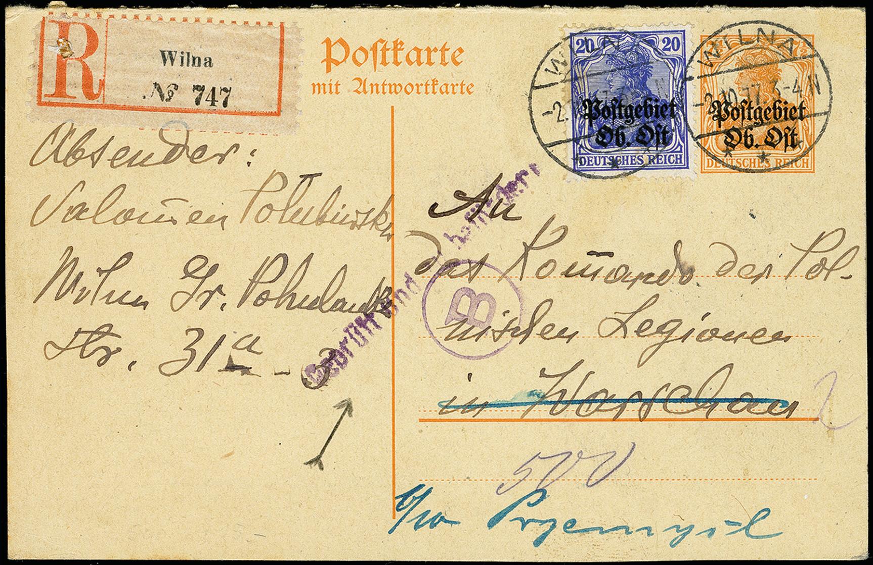 Lot 116 - europe Central Lithuania, Ober Ost -  Heinrich Koehler Auktionen 373rd Heinrich Köhler auction - Day 1