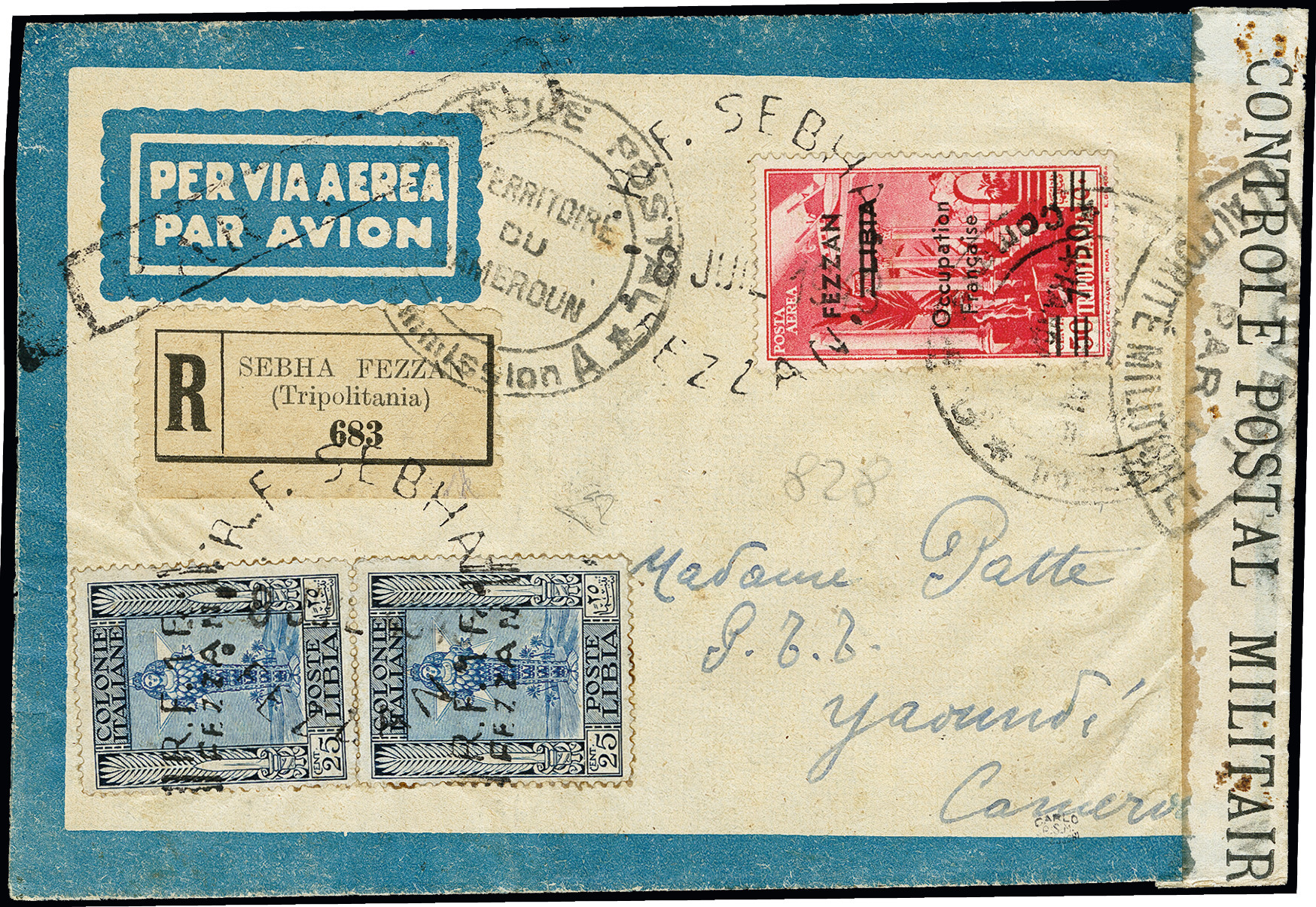 Lot 492 - french colonies fezzan -  Heinrich Koehler Auktionen 373rd Heinrich Köhler auction - Day 1
