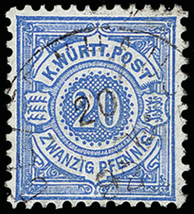 Lot 3105 - german states Wurttemberg -  Heinrich Koehler Auktionen 373rd Heinrich Köhler auction - Day 5