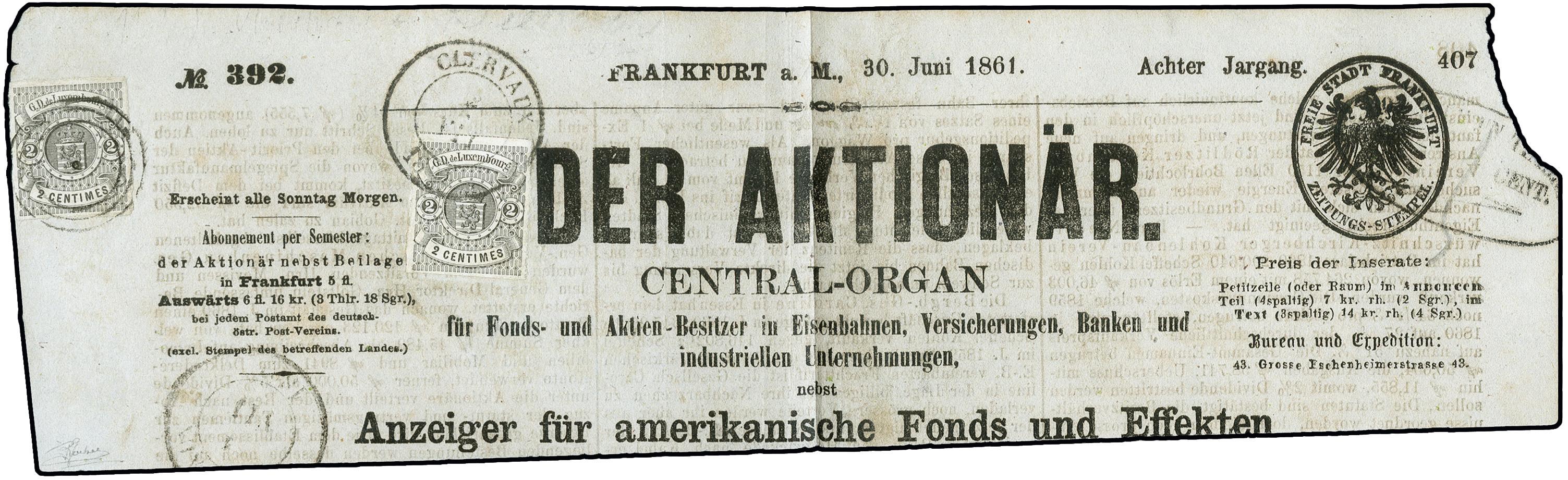 Lot 880 - europe luxemburg -  Heinrich Koehler Auktionen 373rd Heinrich Köhler auction - Day 1