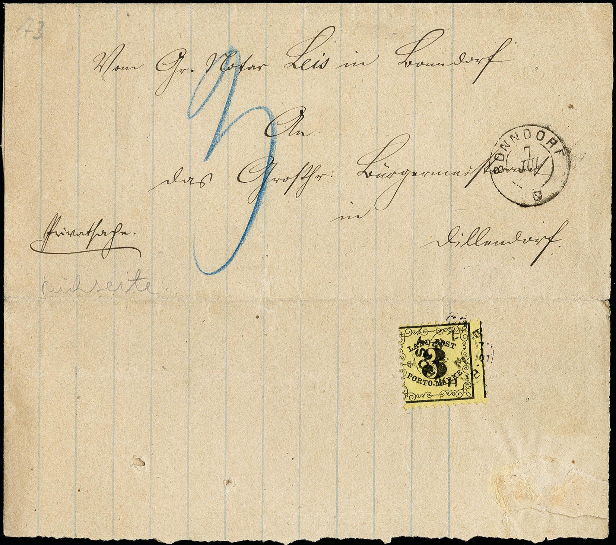 Lot 2855 - Baden baden rural post -  Heinrich Koehler Auktionen 373rd Heinrich Köhler auction - Day 5