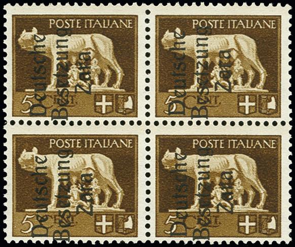 Lot 1957A - german occupation issues 1939/45 zara -  Heinrich Koehler Auktionen 373rd Heinrich Köhler auction - Day 1