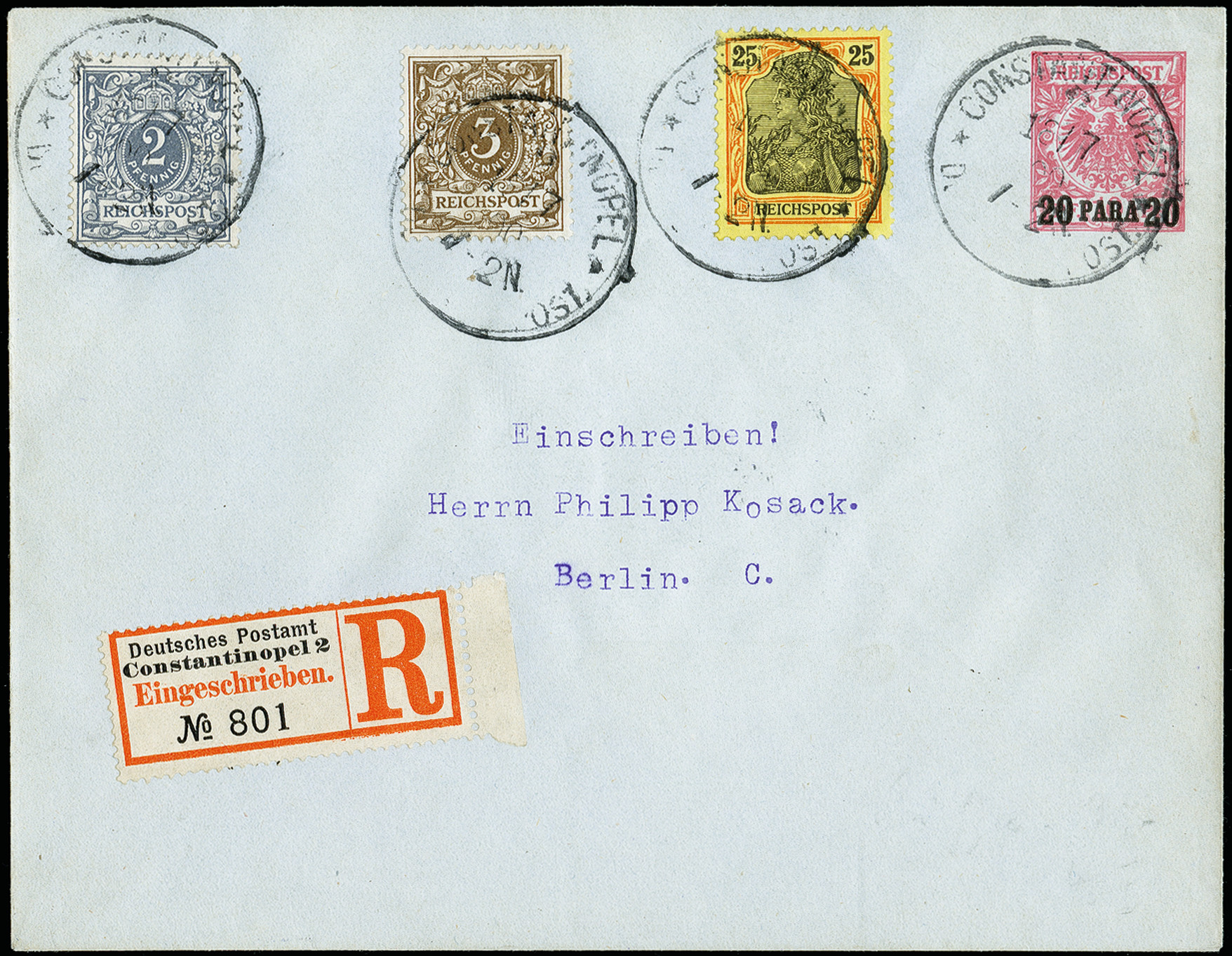 Lot 2801A - german colonies and offices abroad german post in turkey -  Heinrich Koehler Auktionen 373rd Heinrich Köhler auction - Day 5