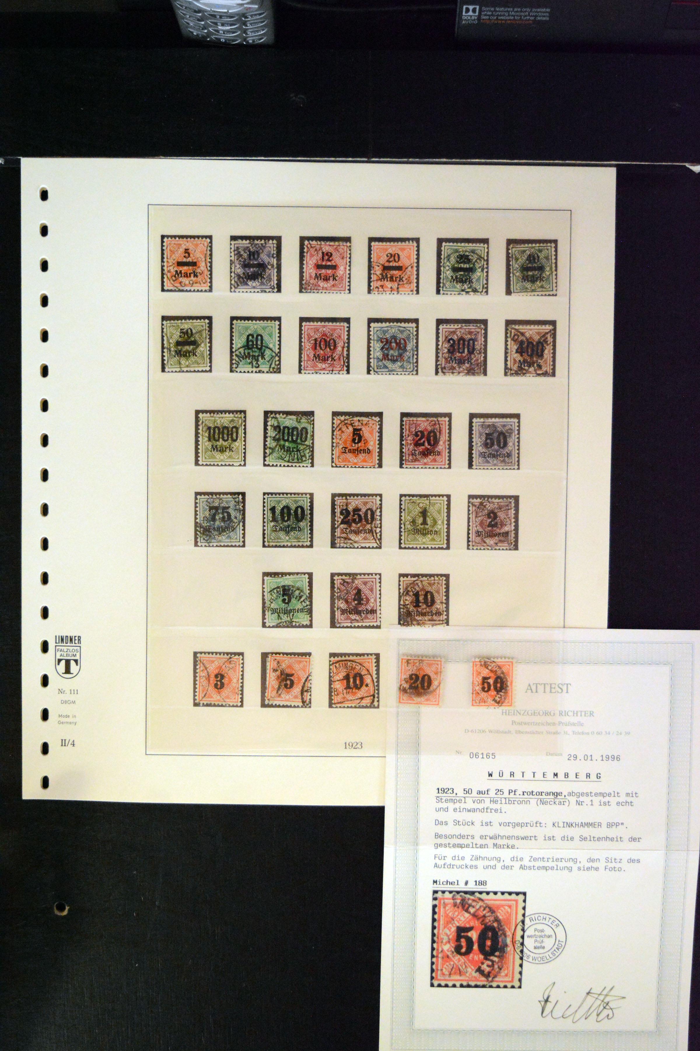 Lot 4710 - german states Wurttemberg -  Heinrich Koehler Auktionen 373rd Heinrich Köhler auction - Day 3