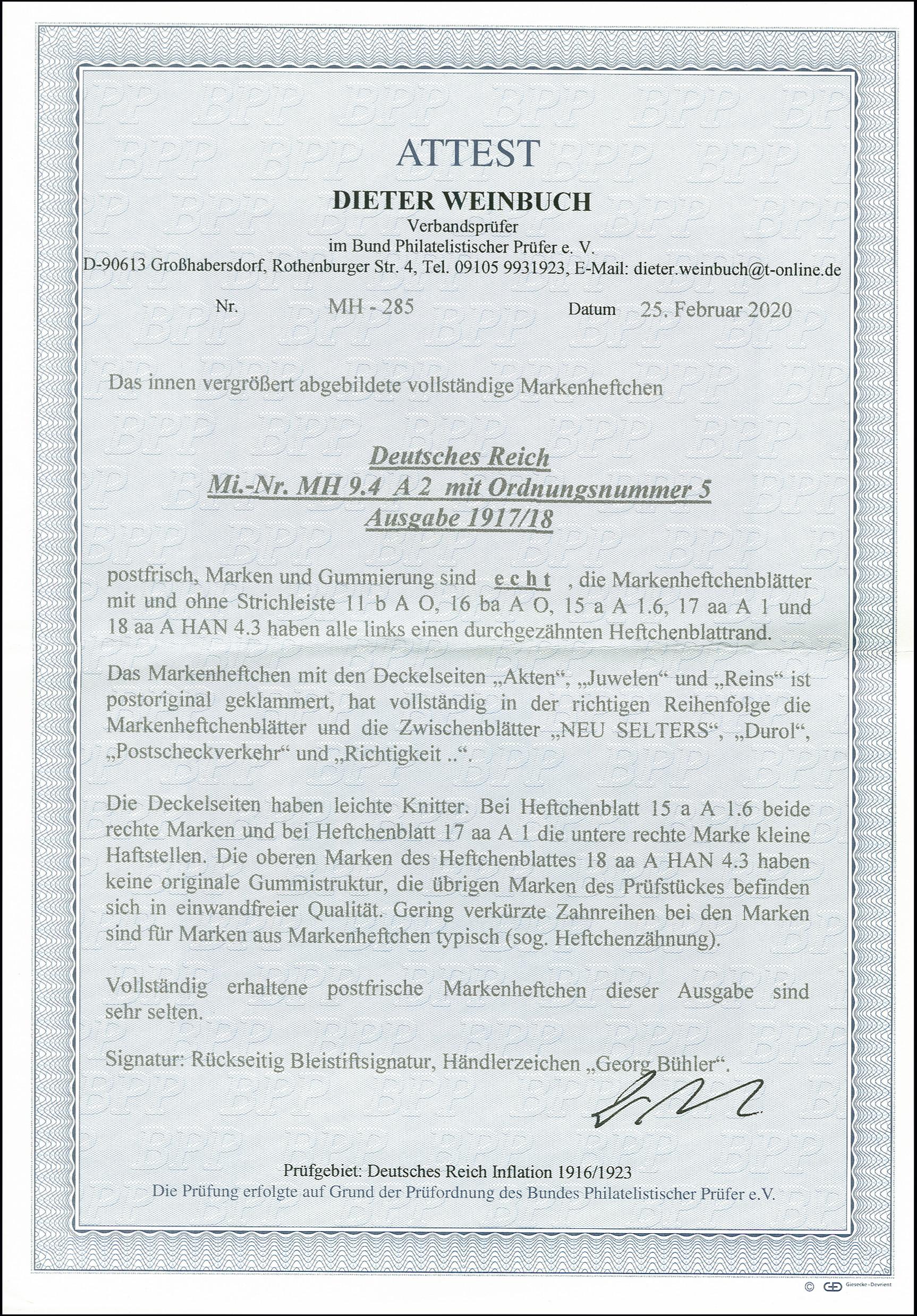 Lot 2675 - Deutsches Reich german empire - se-tenants -  Heinrich Koehler Auktionen 375rd Heinrich Köhler auction - Day 2