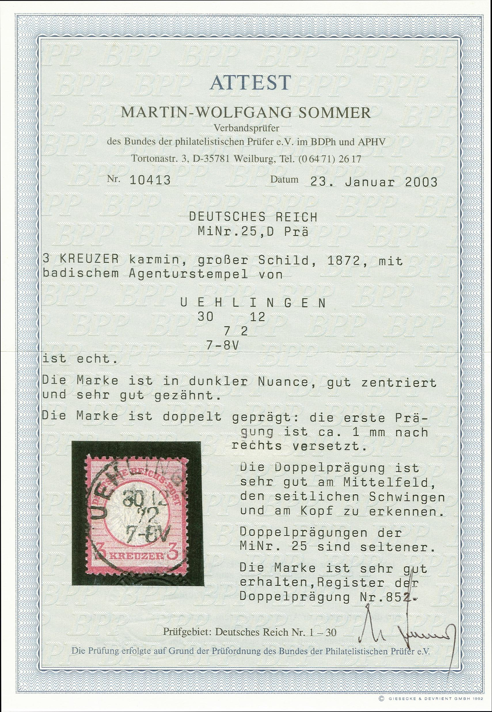 Lot 2451 - Main catalogue German Empire -  Heinrich Koehler Auktionen 375rd Heinrich Köhler auction - Day 2