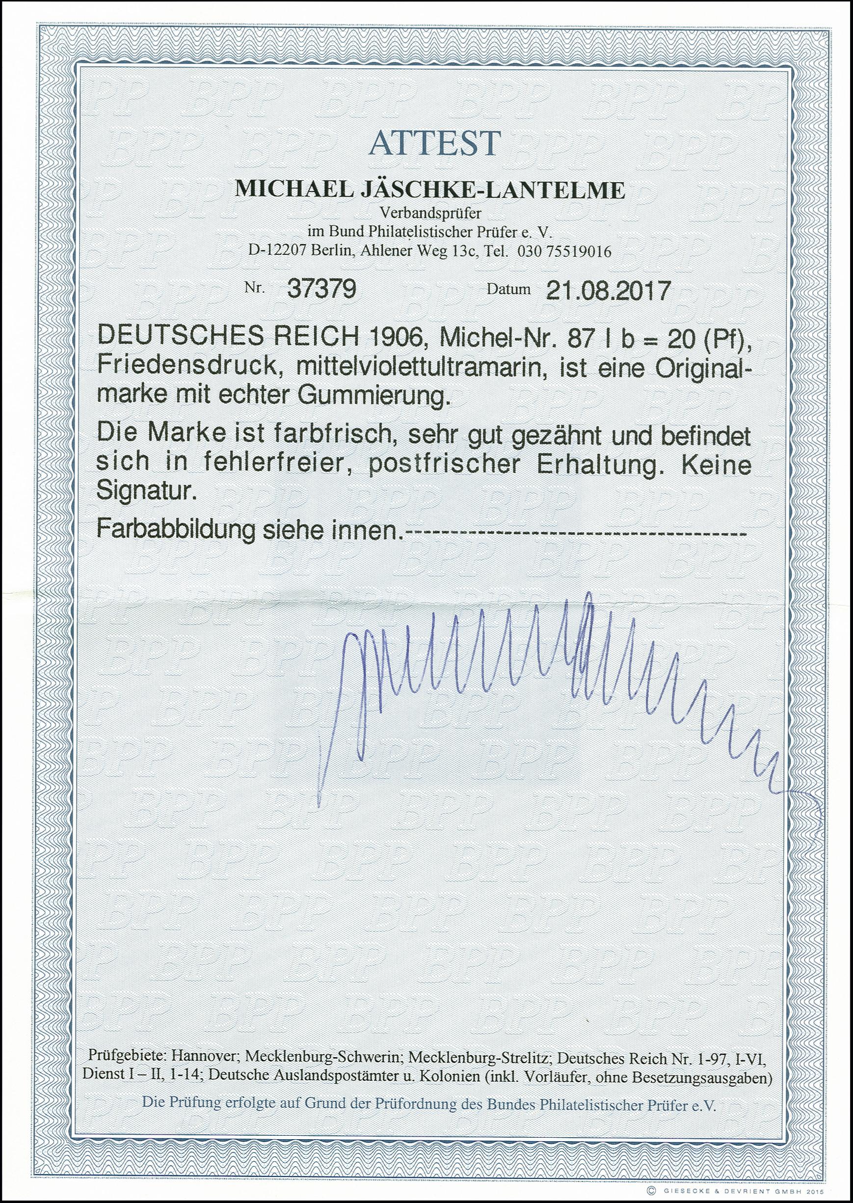 Lot 2518 - Main catalogue German Empire -  Heinrich Koehler Auktionen 375rd Heinrich Köhler auction - Day 2