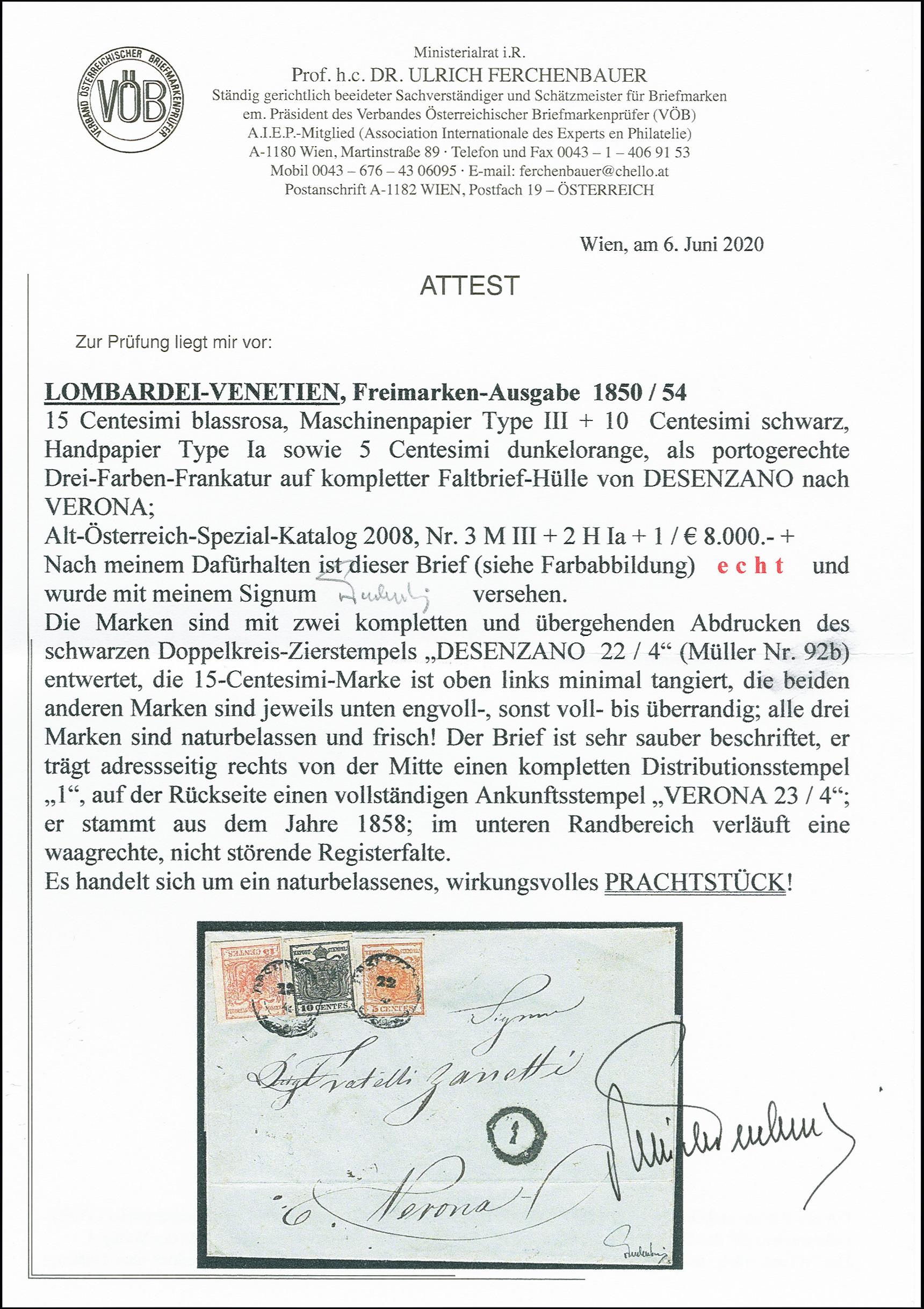 Lot 1096 - österreich lombardy venetia -  Heinrich Koehler Auktionen 375rd Heinrich Köhler auction - Day 1