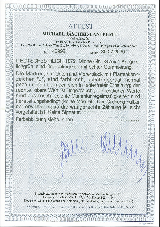Lot 2450 - Main catalogue German Empire -  Heinrich Koehler Auktionen 375rd Heinrich Köhler auction - Day 2