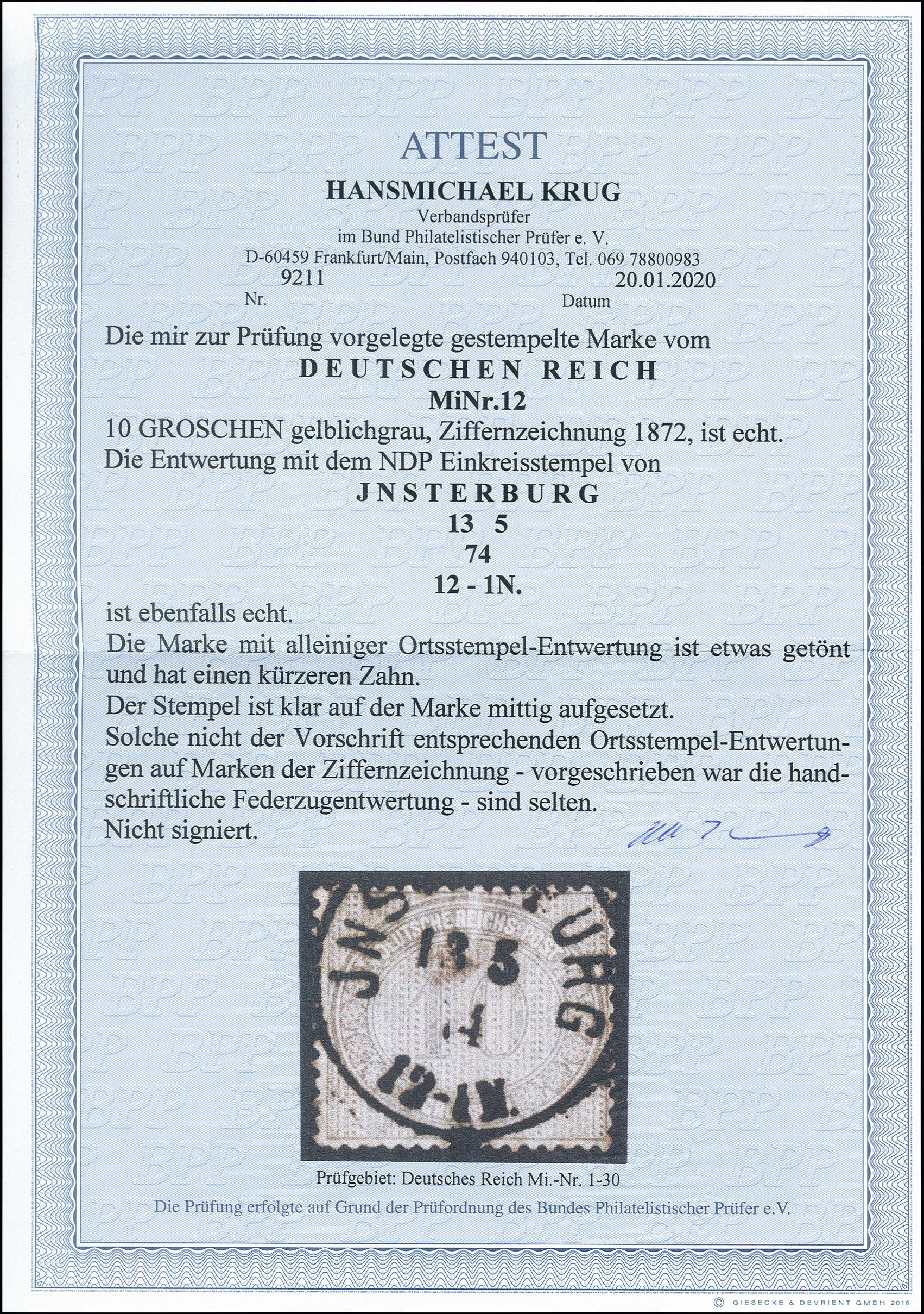 Lot 2440 - Main catalogue German Empire -  Heinrich Koehler Auktionen 375rd Heinrich Köhler auction - Day 2