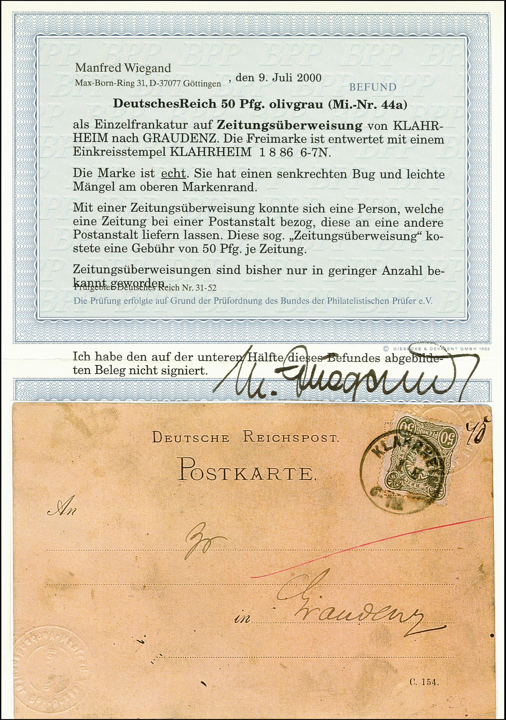 Lot 2466 - Main catalogue German Empire -  Heinrich Koehler Auktionen 375rd Heinrich Köhler auction - Day 2