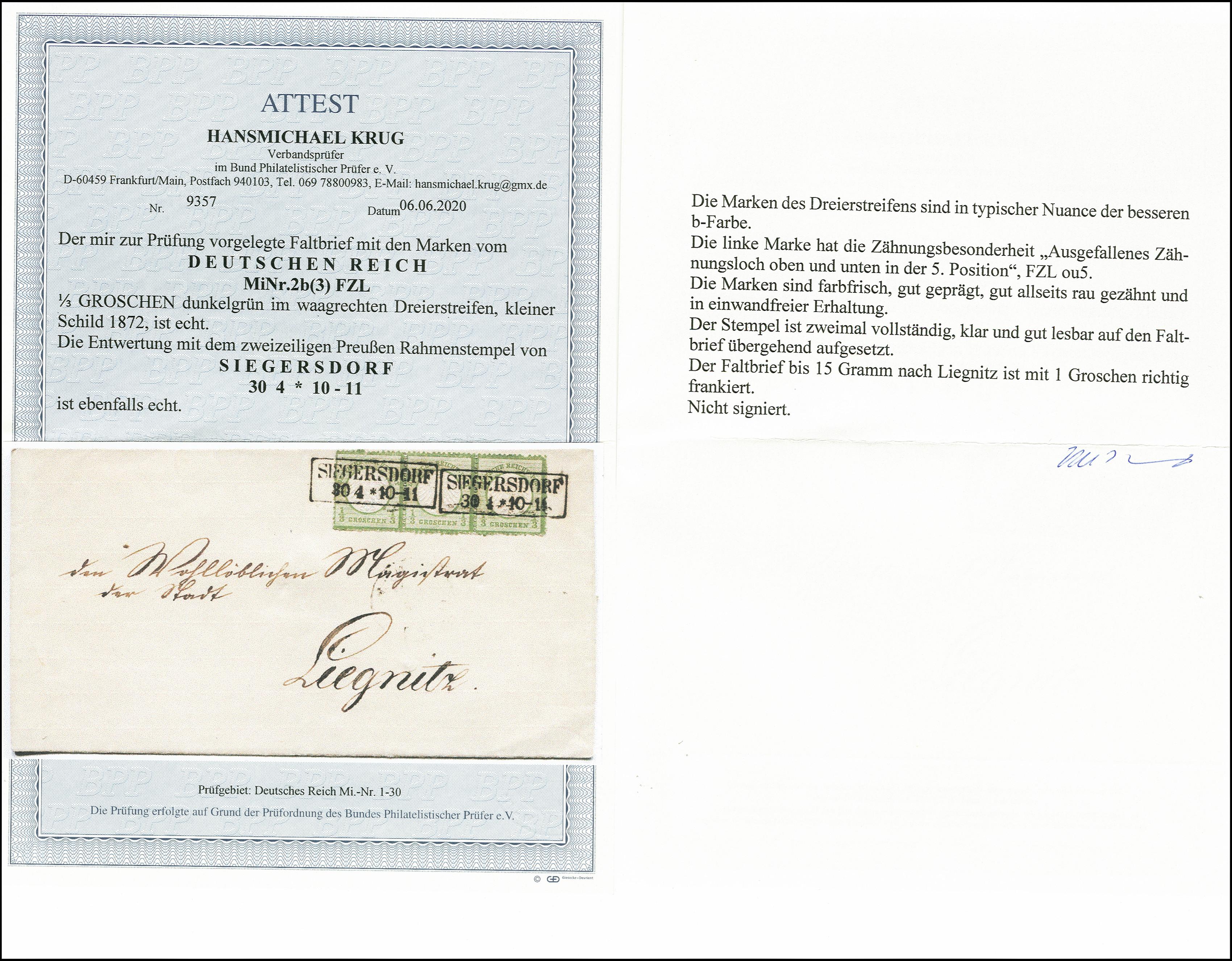 Lot 2430 - Main catalogue German Empire -  Heinrich Koehler Auktionen 375rd Heinrich Köhler auction - Day 2