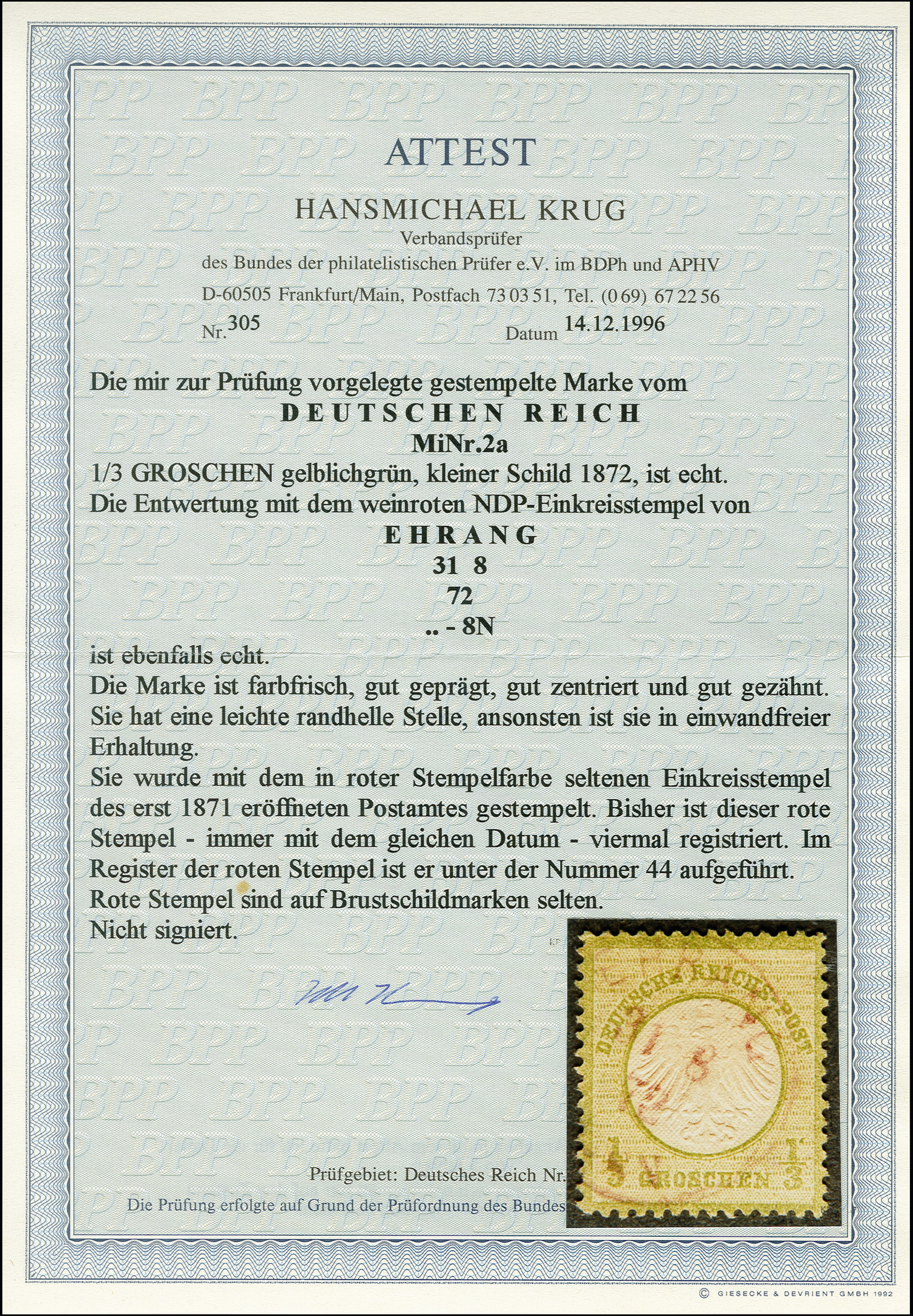 Lot 2429 - Main catalogue German Empire -  Heinrich Koehler Auktionen 375rd Heinrich Köhler auction - Day 2