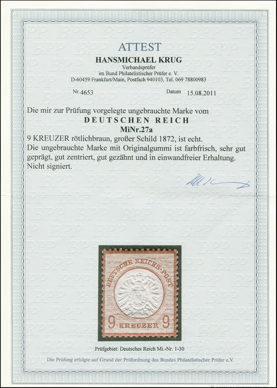 Lot 2452 - Main catalogue German Empire -  Heinrich Koehler Auktionen 375rd Heinrich Köhler auction - Day 2