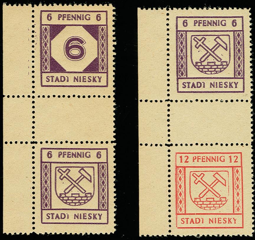 Lot 3545 - deutsche lokalausgaben ab 1945 niesky -  Heinrich Koehler Auktionen 375rd Heinrich Köhler auction - Day 3