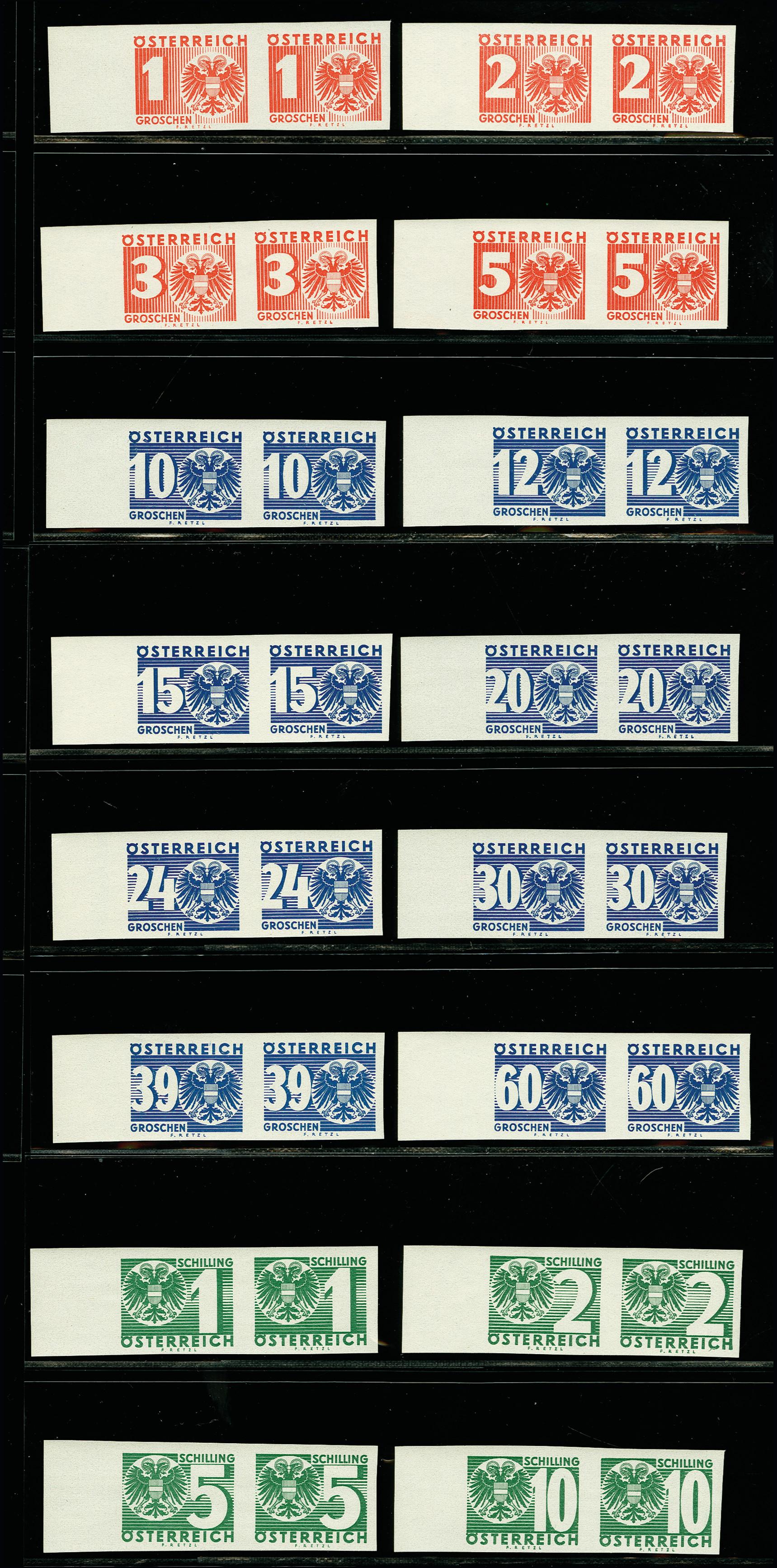 Lot 1092 - österreich Austria postage due -  Heinrich Koehler Auktionen 375rd Heinrich Köhler auction - Day 1