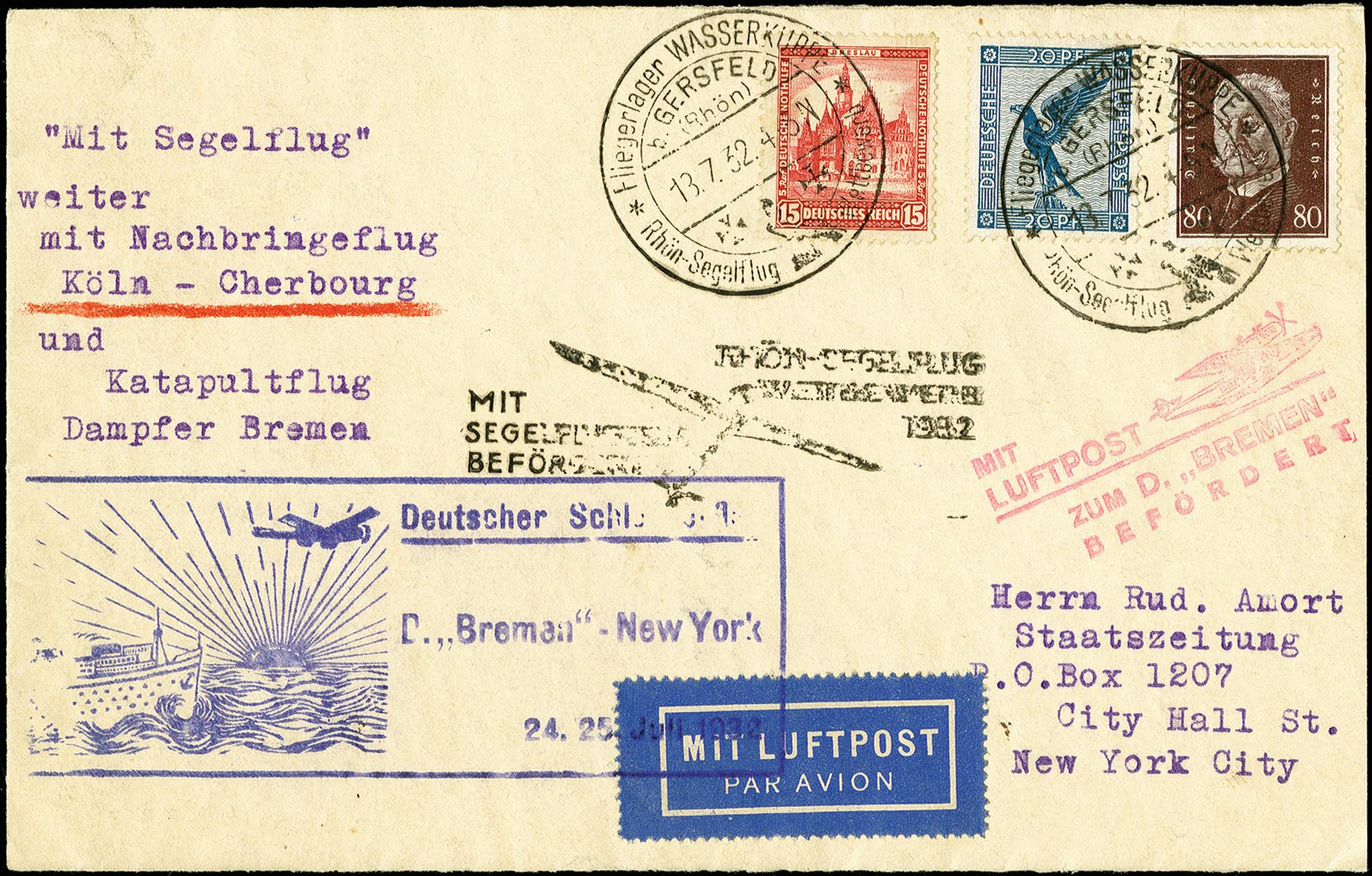 Lot 2302 - luftpost catapult post -  Heinrich Koehler Auktionen 375rd Heinrich Köhler auction - Day 1